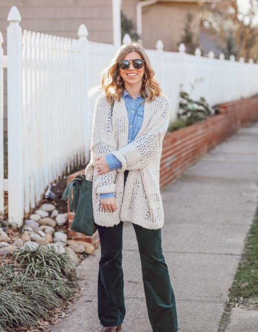 How to Pull off the 70s Trend in 2019 | Flared Corduroys, Crochet Sweater | Louella Reese