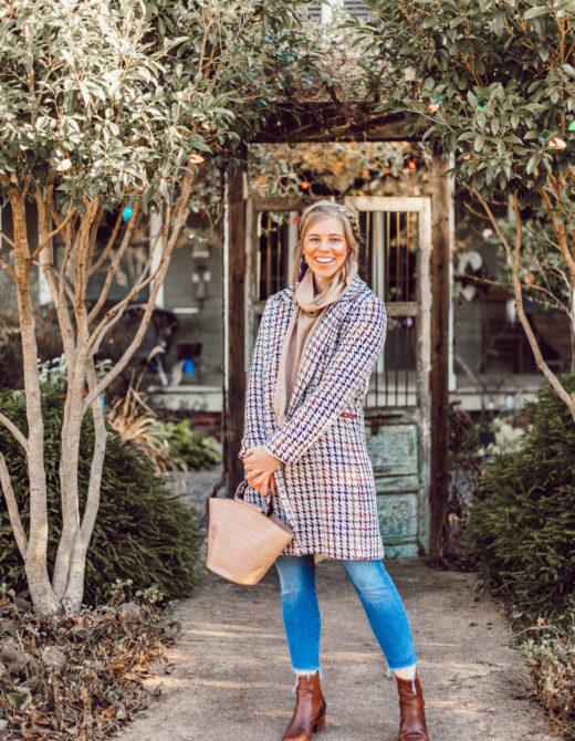 The Importance of a Great Winter Coat | Houndstooth Coat, Preppy Winter Style | Louella Reese