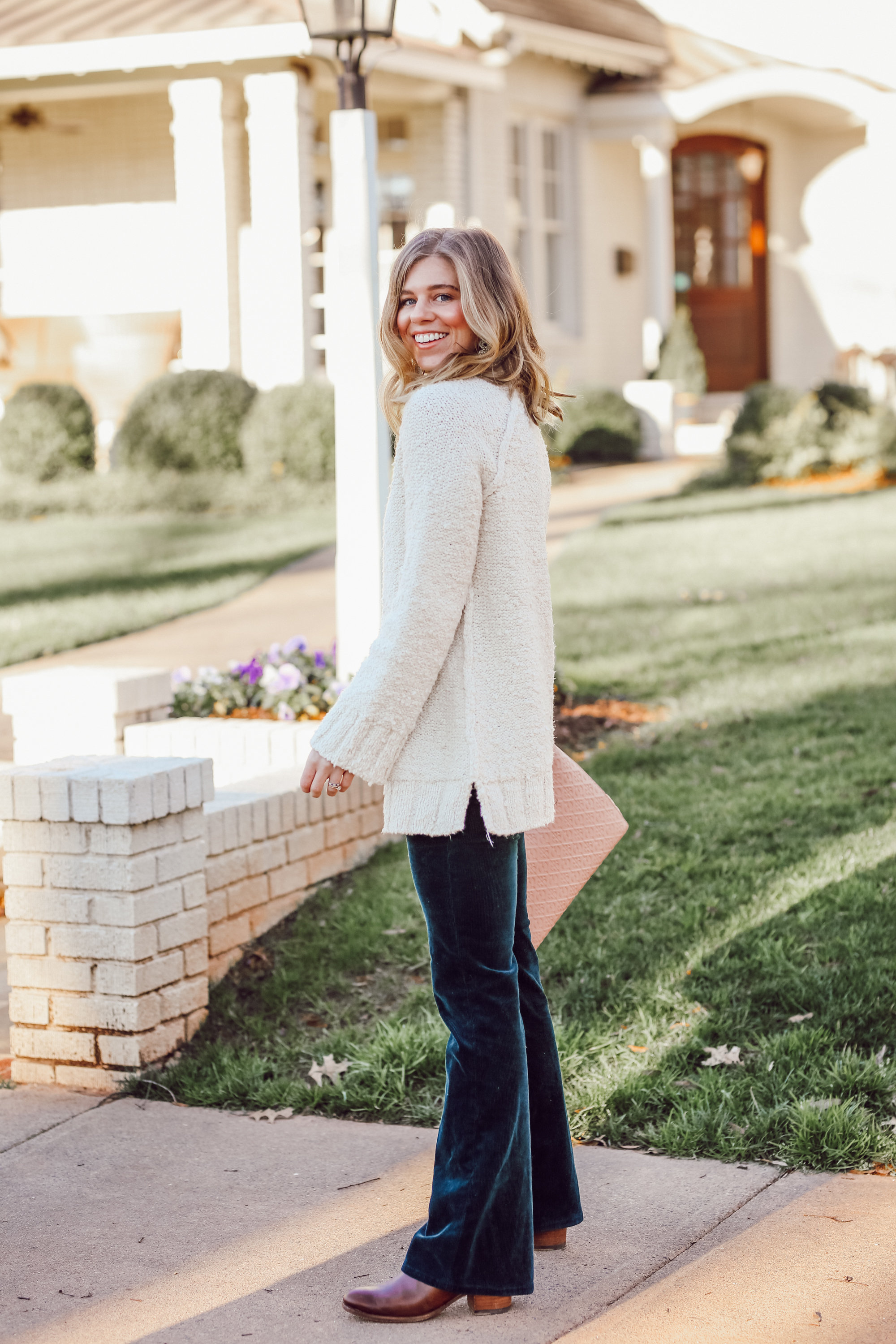 The Perfect Everyday Neutral Sweater   Oversized Sweater, Corduroy Bootcut Pants   Louella Reese