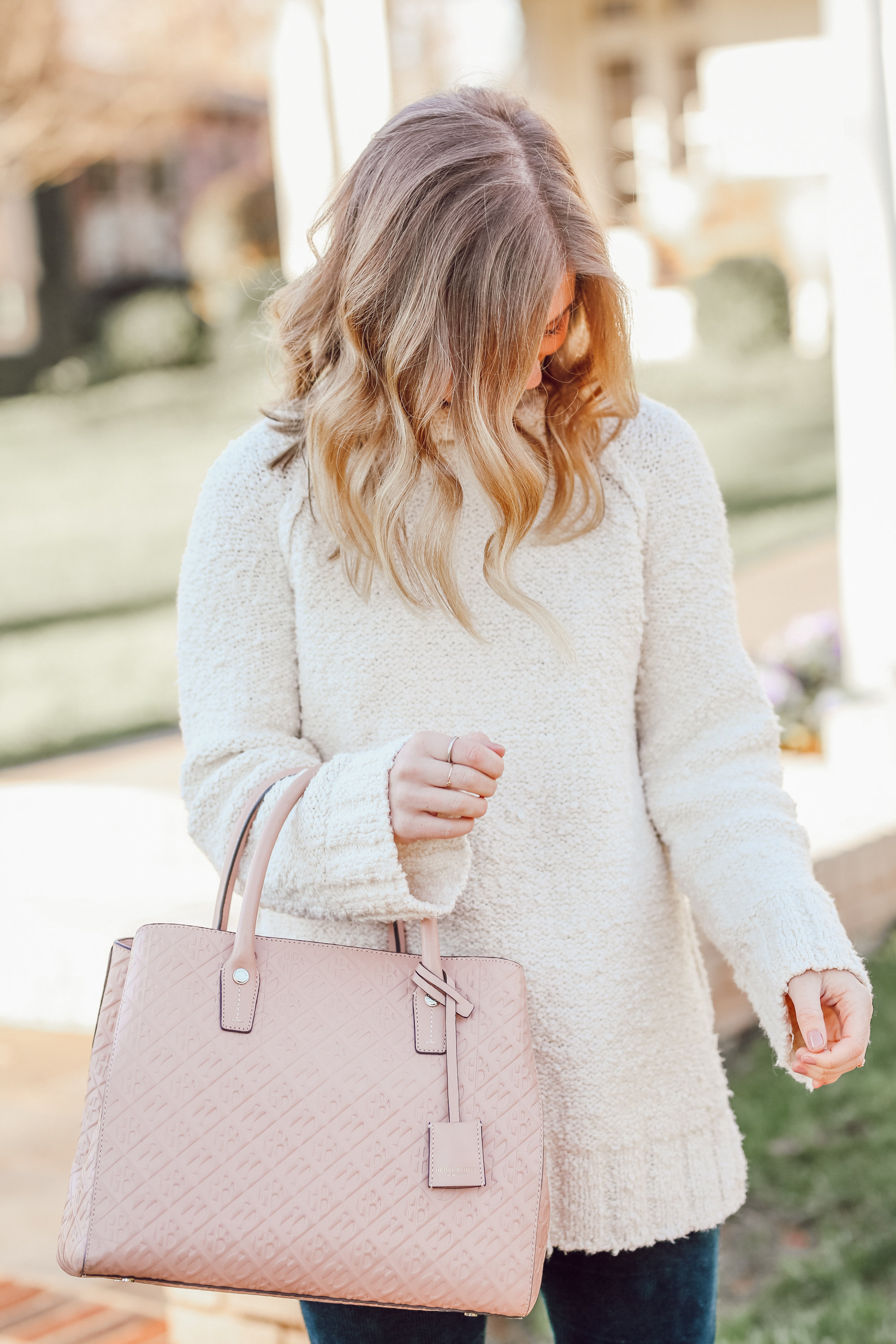 The Perfect Everyday Neutral Sweater   Blunt Lob Haircut   Louella Reese
