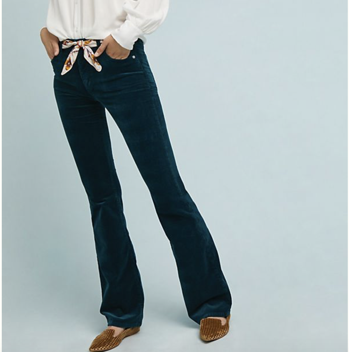 Laura Leigh of Louella Reese shares her favorite summer purchases of winter 2018 including bootcut corduroy pants
