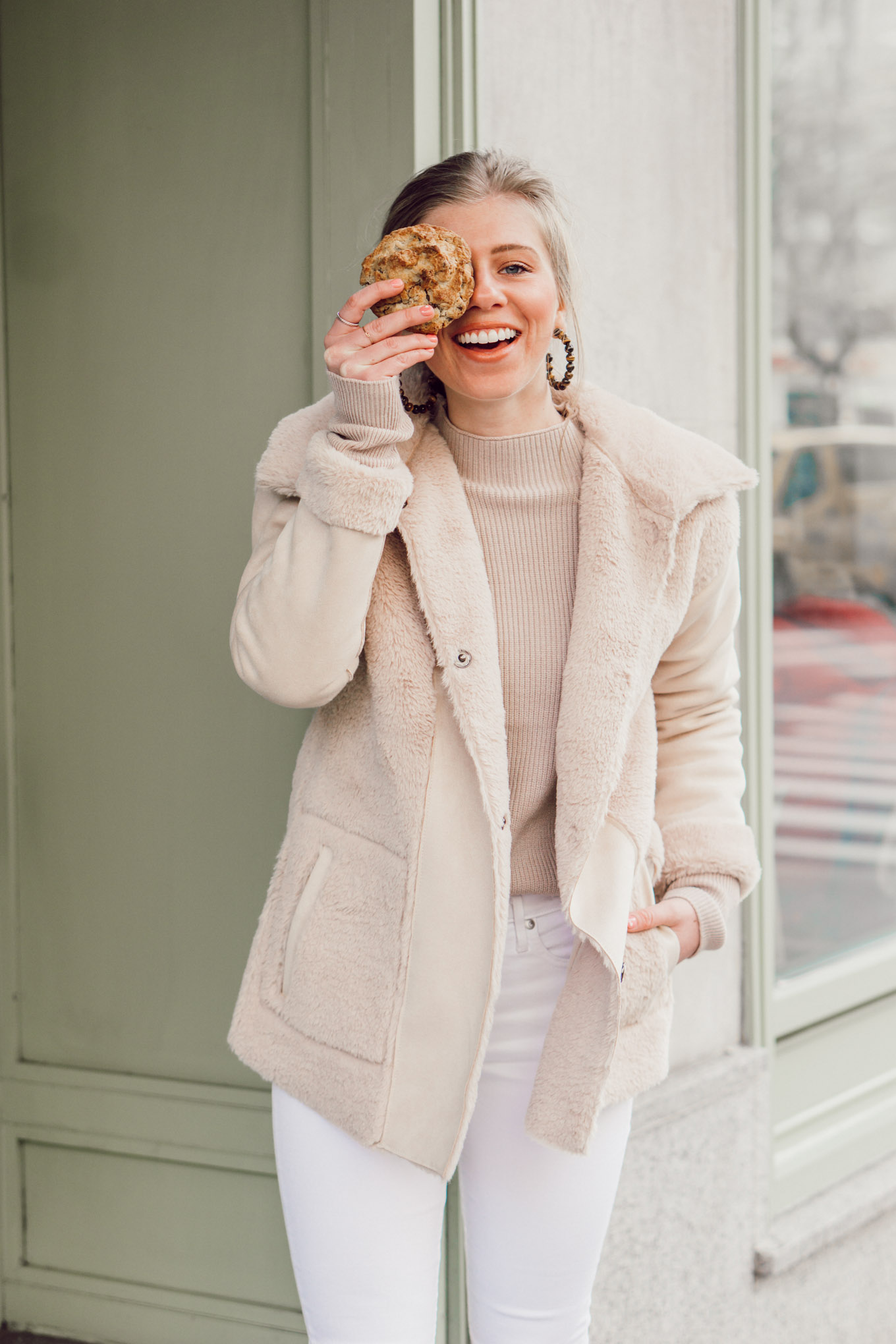 Louella Reese February 2019 Recap | Faux Shearling Coat, Neutral Winter Outfit Inspo