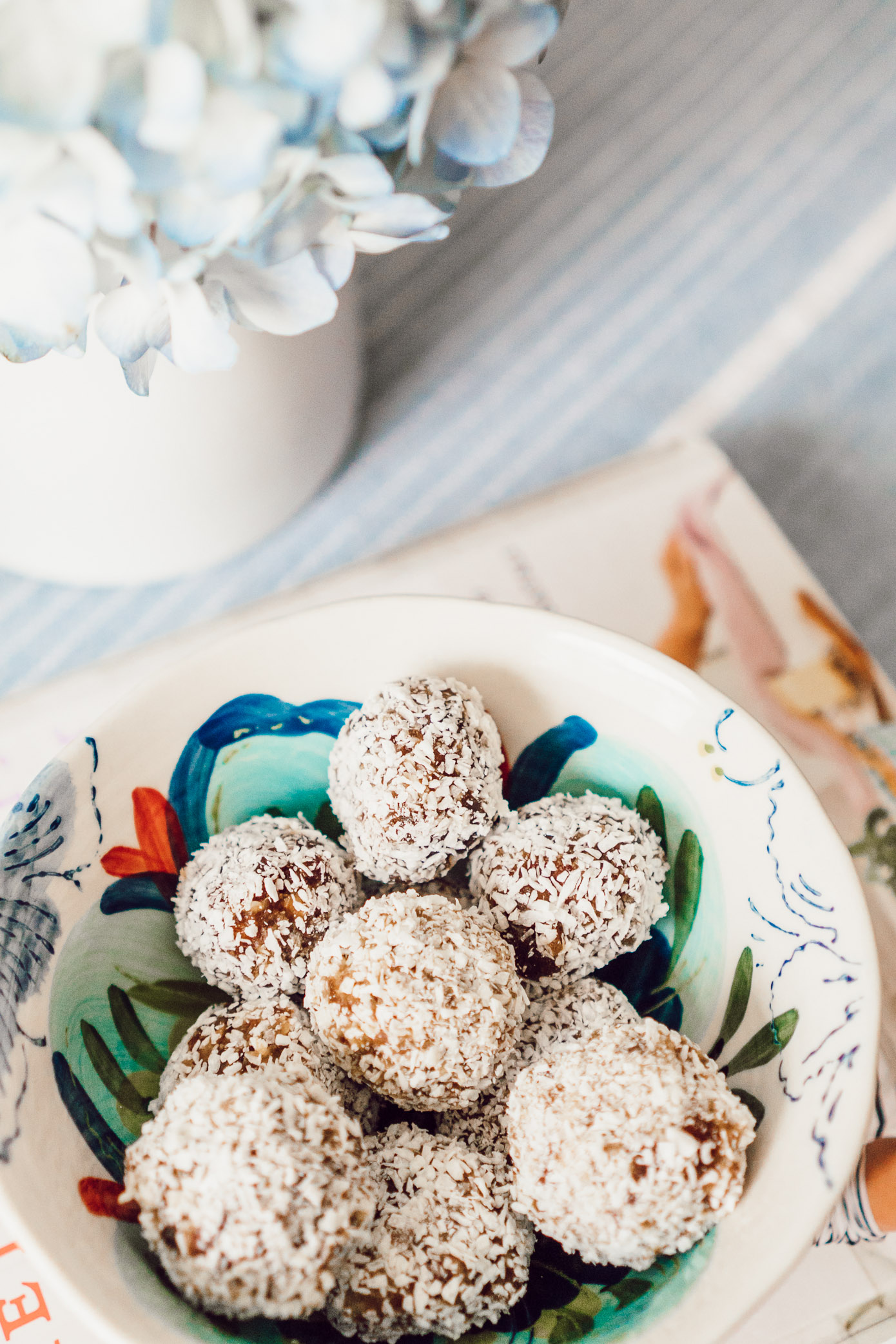 FWTFL Approved Low Carb Snacks & Regular Macro Day Snacks featured on Louella Reese Life & Style Blog | Whole Foods Coconut Date Ball Dupe