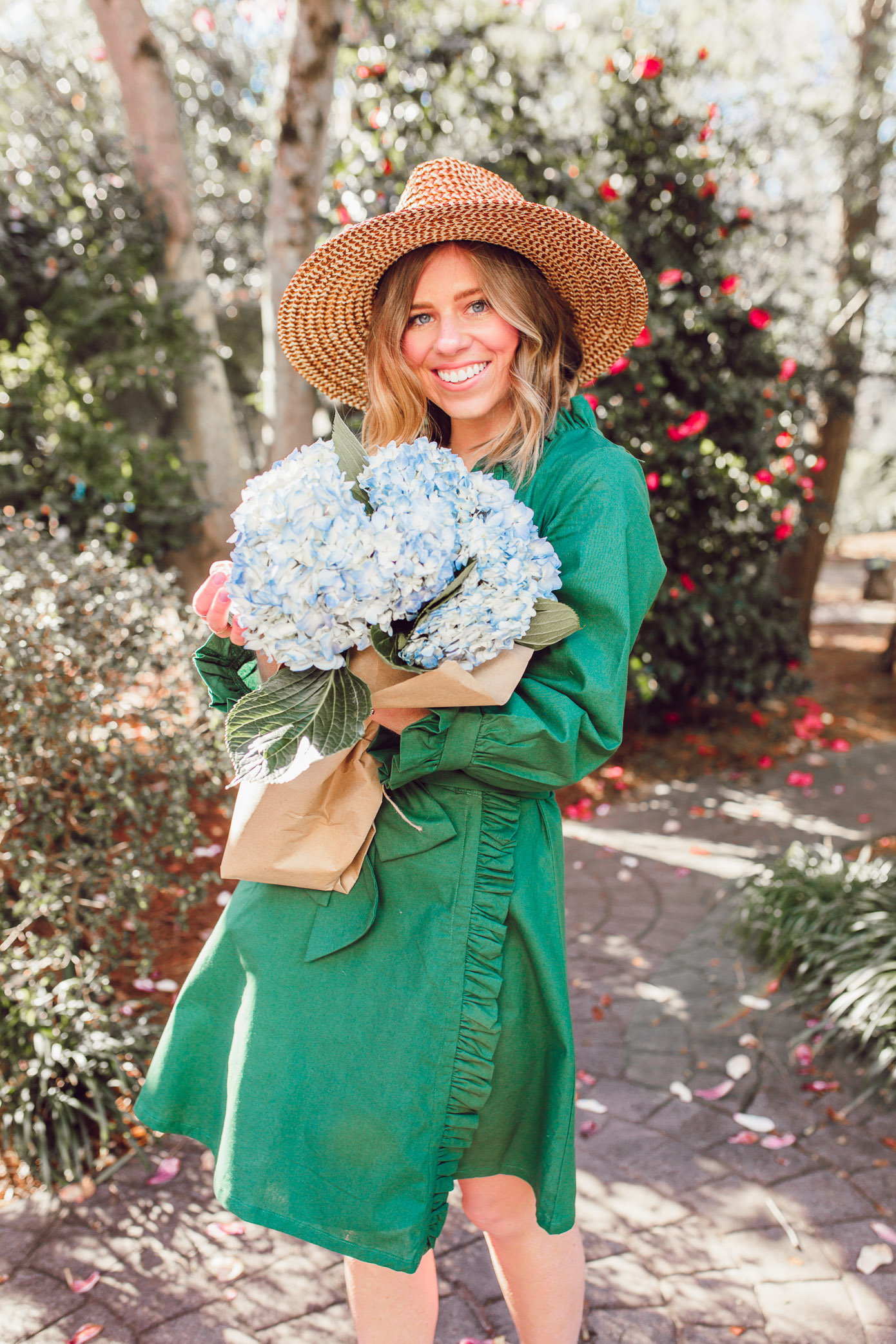 How to pull off green in the spring + the best green dress to shop now | Louella Reese