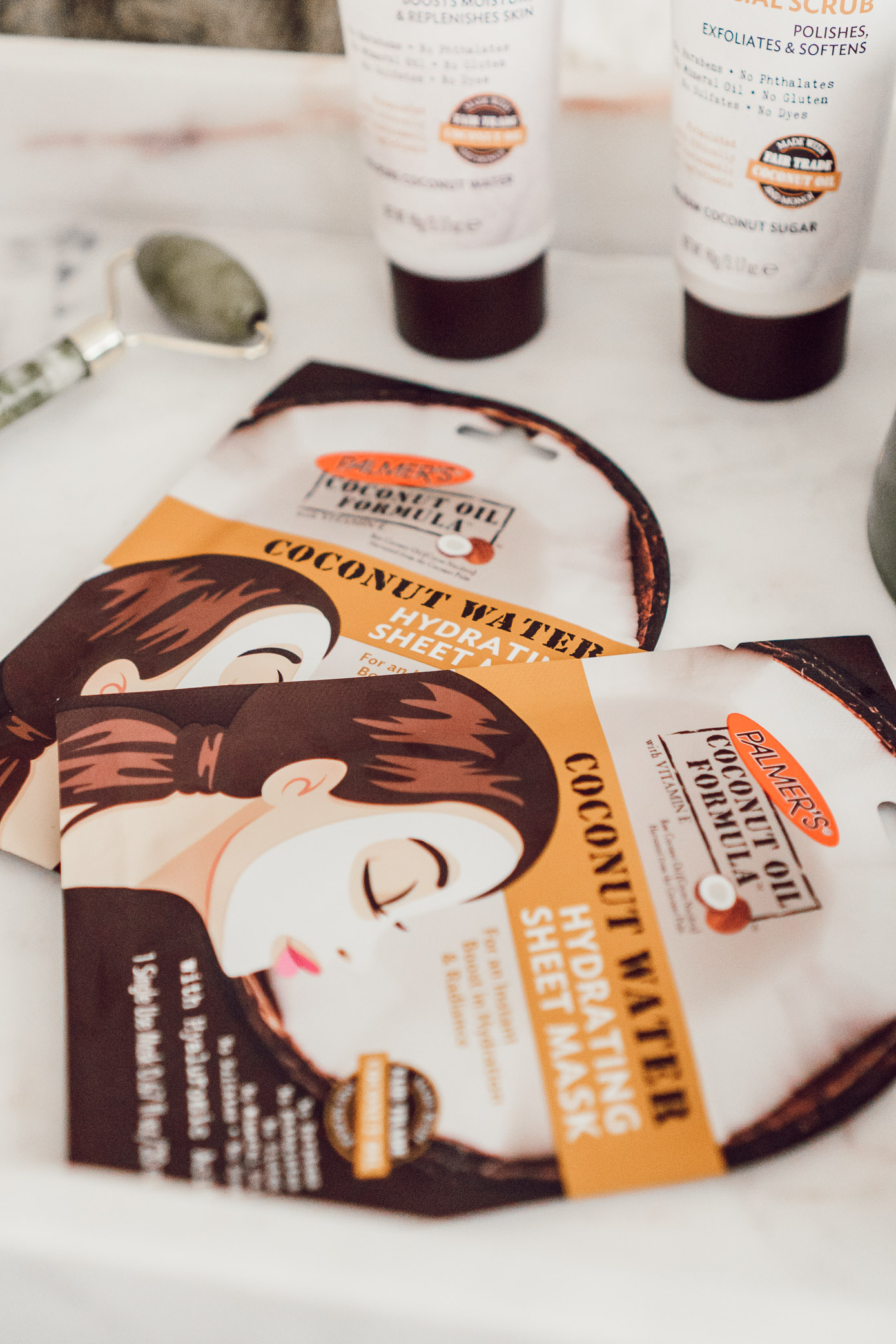 Sheet Face Masks | Palmer's Coconut Oil Formula | Fives Ways to Give Your Skin a Healthy Glow featured on Louella Reese