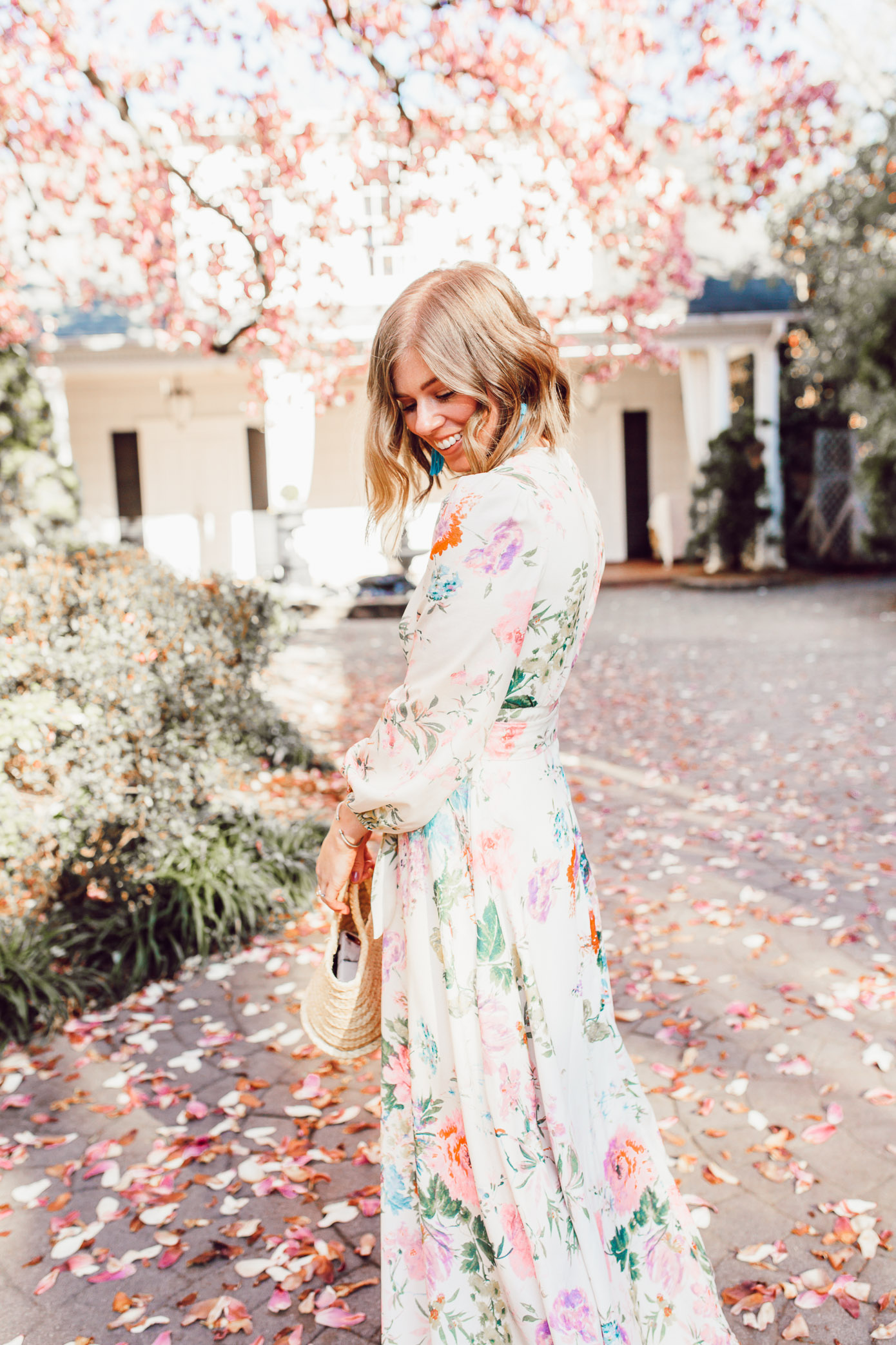 Tips for wearing floral maxi dresses and how to accessorize colorful dresses | Louella Reese | ft. Chicwish, Soludos, Lisi Lerch