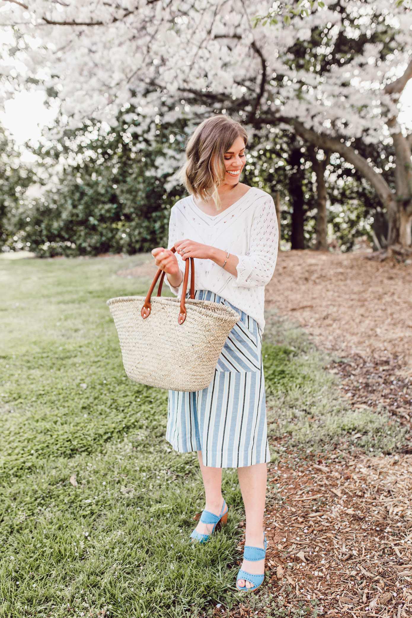 Tips for styling a crochet sweater for an easy spring look | Louella Reese