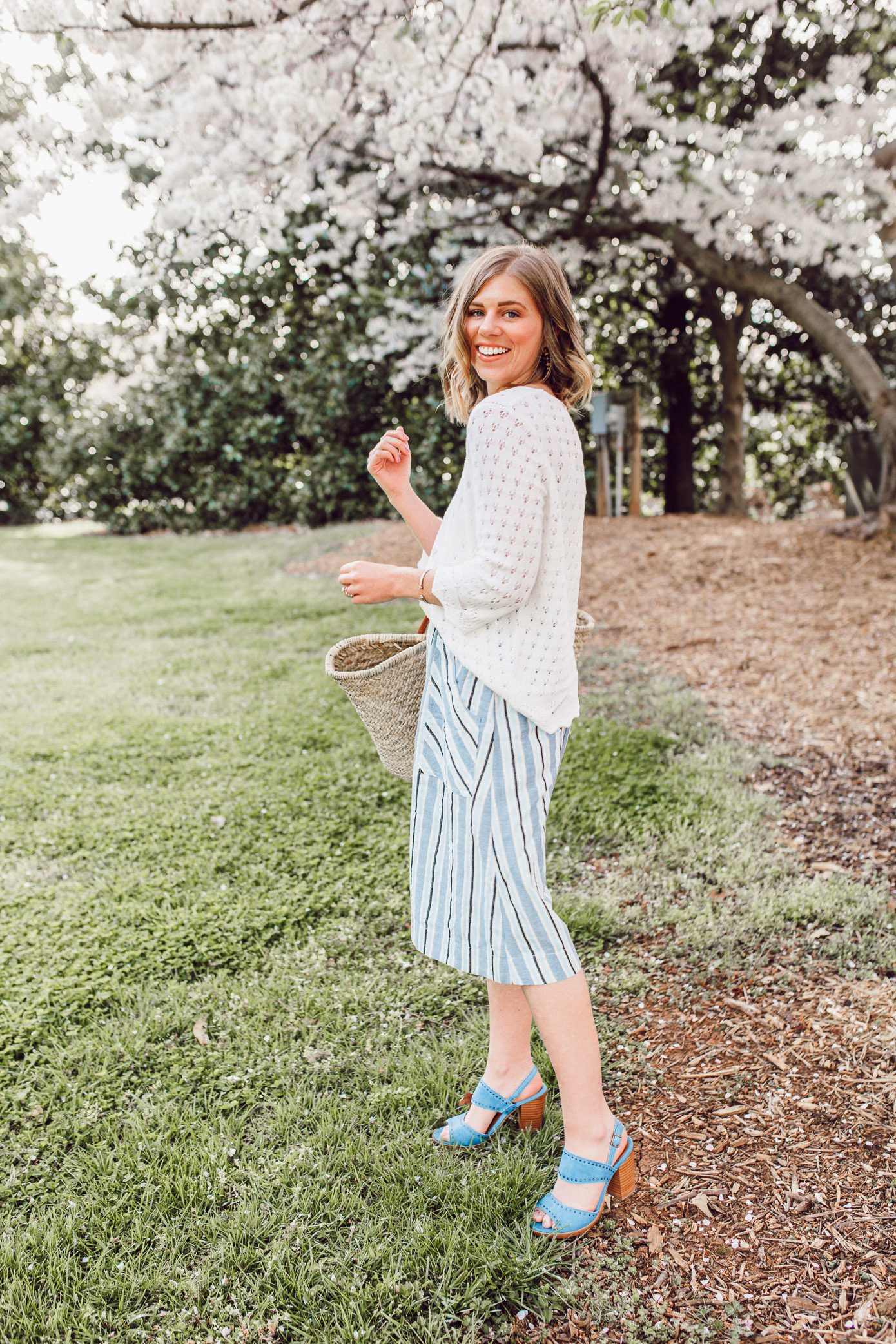 Laura Leigh Elliott shares her favorite sweater for spring | ft. Joseph A., Anthropologie, Ariat, and Terrain | Louella Reese