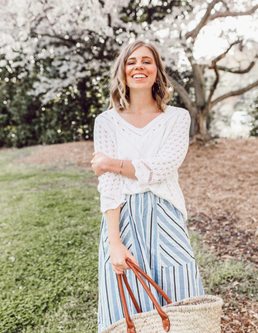 The Perfect Spring Sweater | ft. Joseph A., Anthropologie, Terrain, and Ariat | Louella Reese
