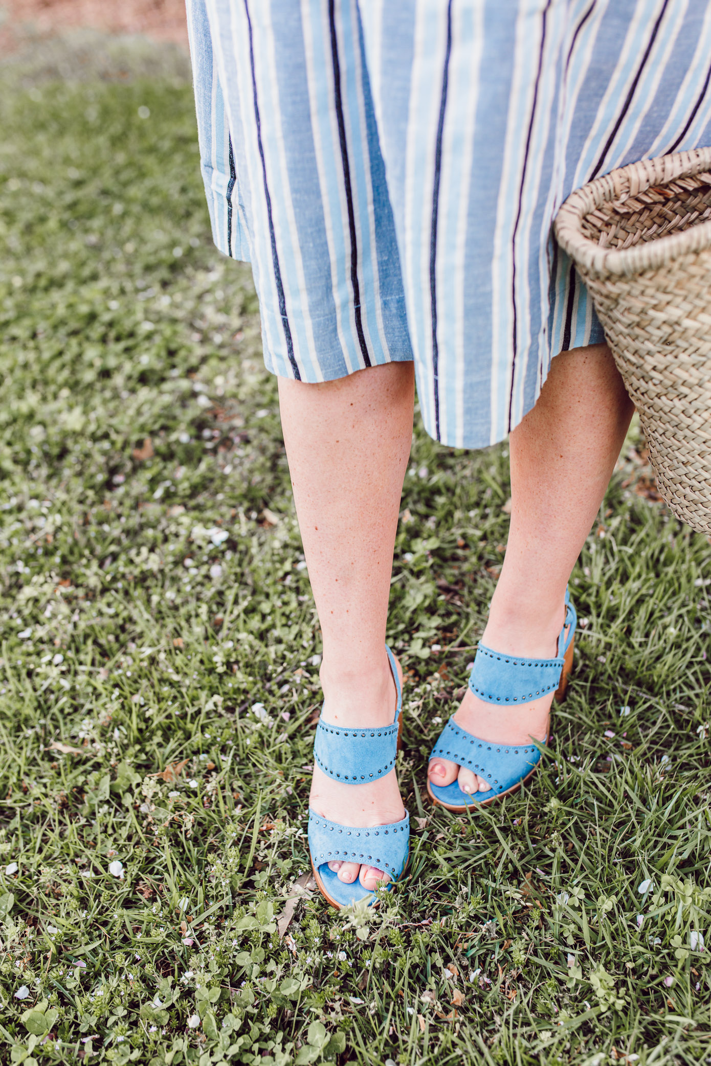 Blue High-Heeled Sandals for Spring | ft. Ariat Two24, Anthropologie, Terrain | Louella Reese