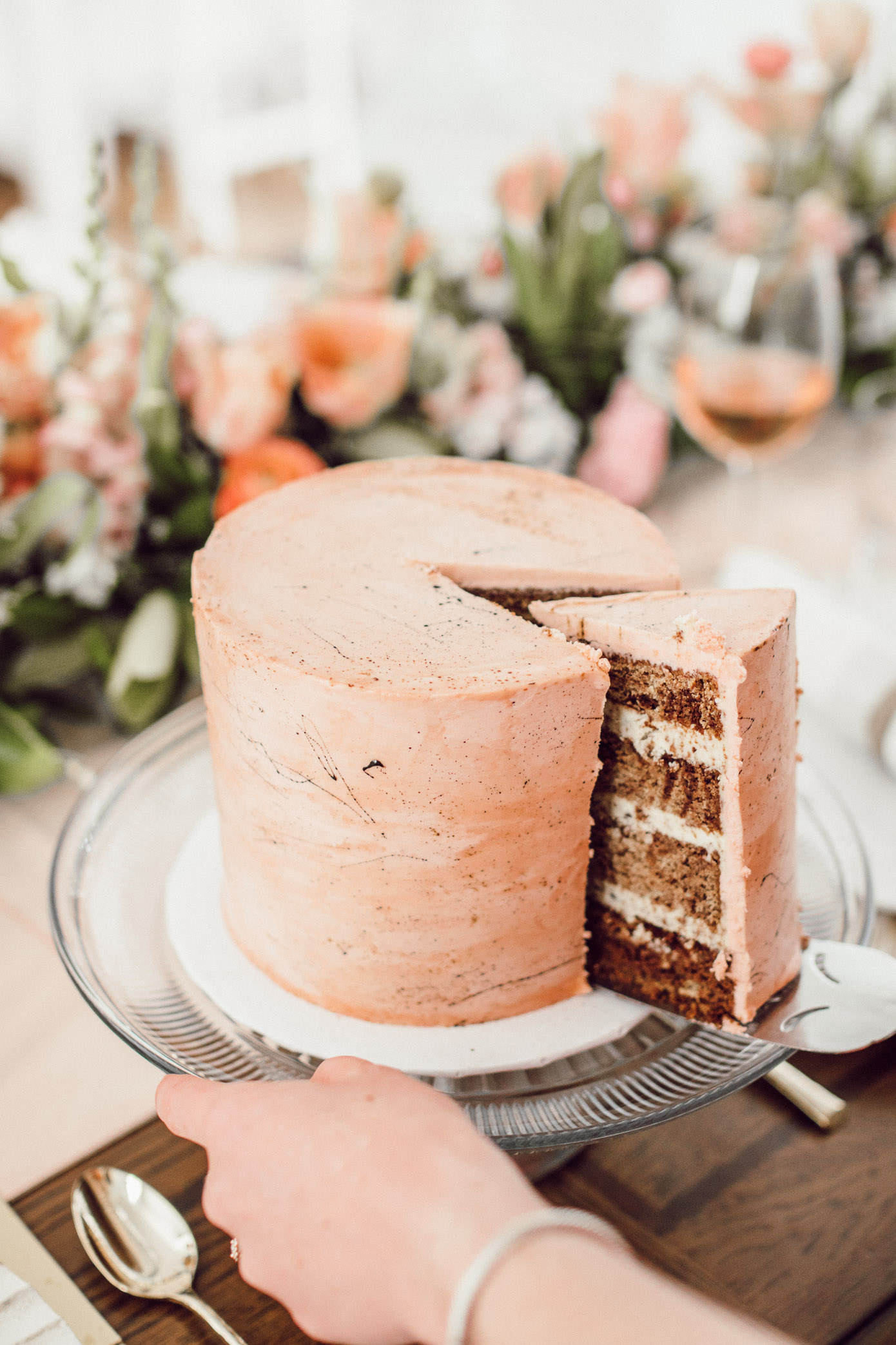 Blush Pink Easter Cake | Easter Desserts | Louella Reese