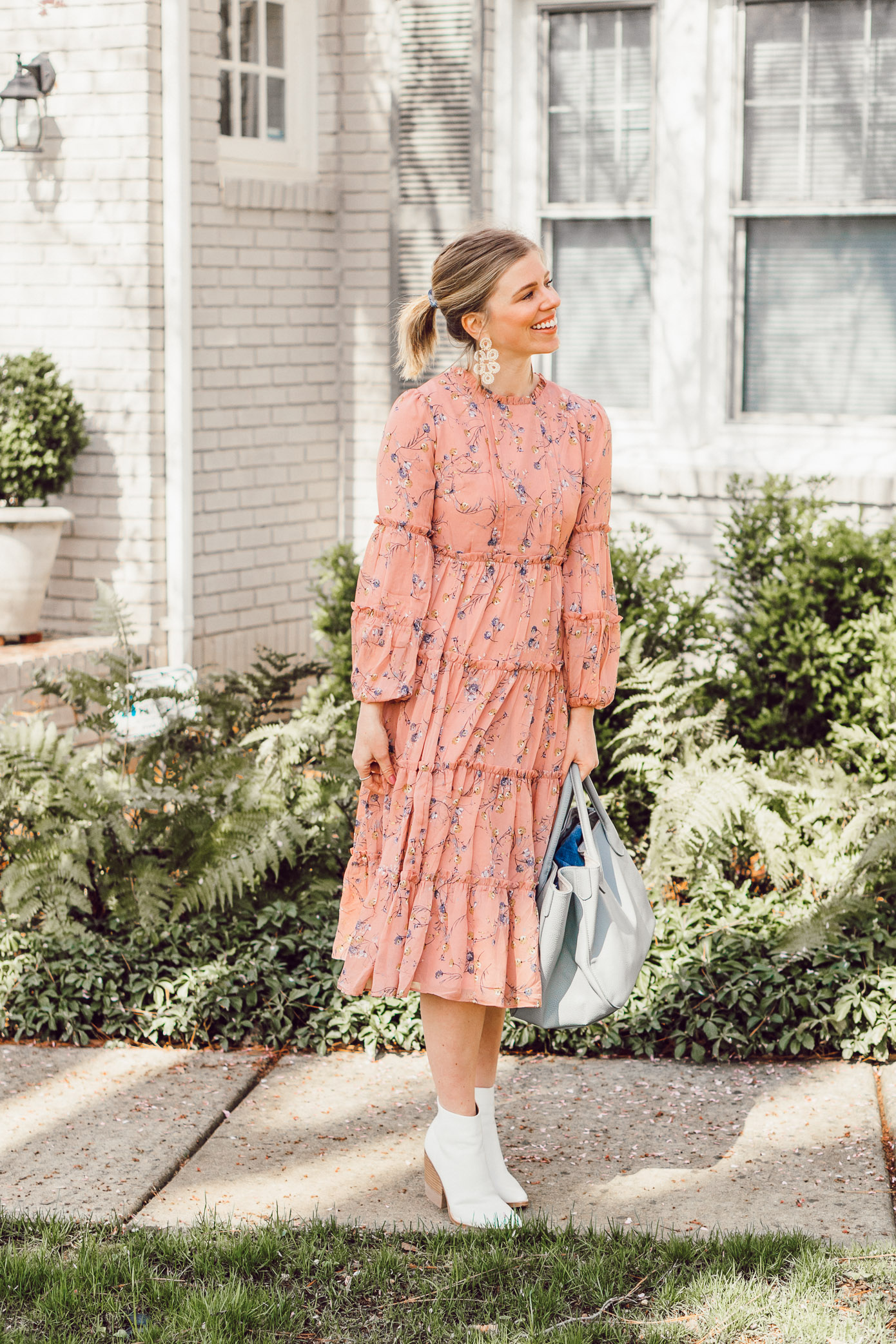 Laura Leigh Elliott shares an elevated Spring dress with sweet floral print for spring | Louella Reese