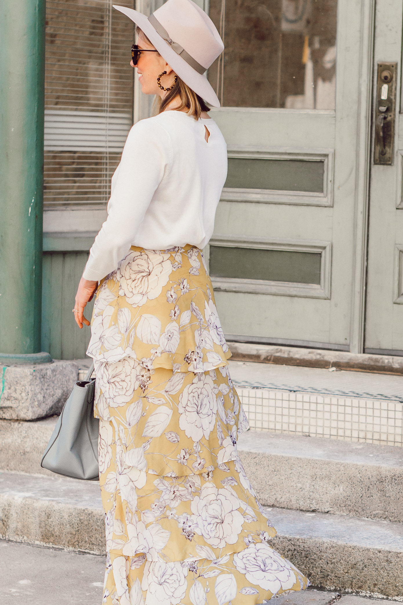 Recent Spring Looks + Spring Dresses & Skirts featured on Louella Reese | Casual Spring Outfit Idea featuring Anthrpologie, J.Crew, Brixton, Beck Bags, and Marc Fisher