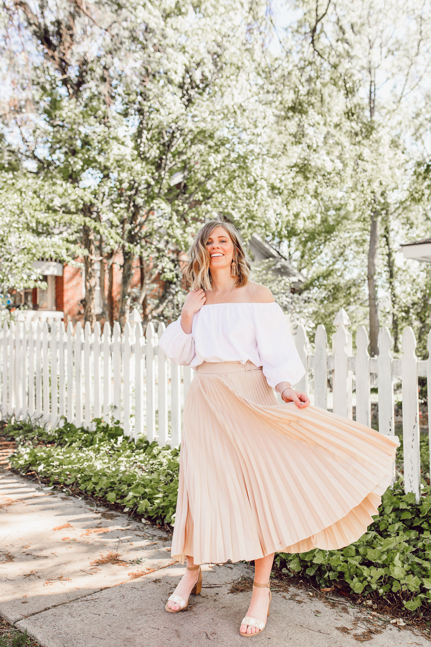 3d143d67c0291 Why neutral midi skirts are a wardrobe must + the best neutral midi skirts  to shop