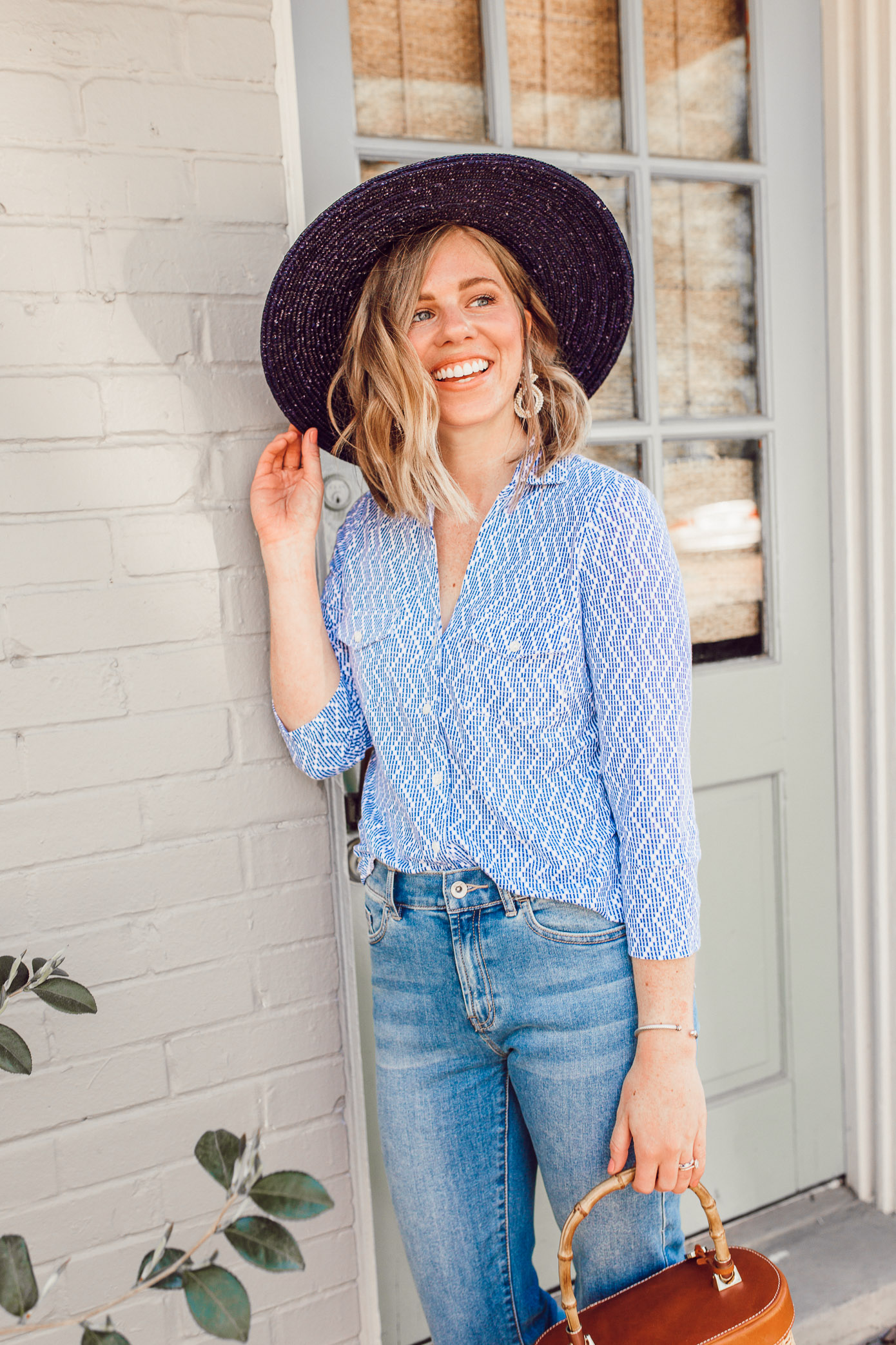 Blue and white outfit ideas to get you in the mood for spring | ft. J.McLaughlin, Brixton | Louella Reese
