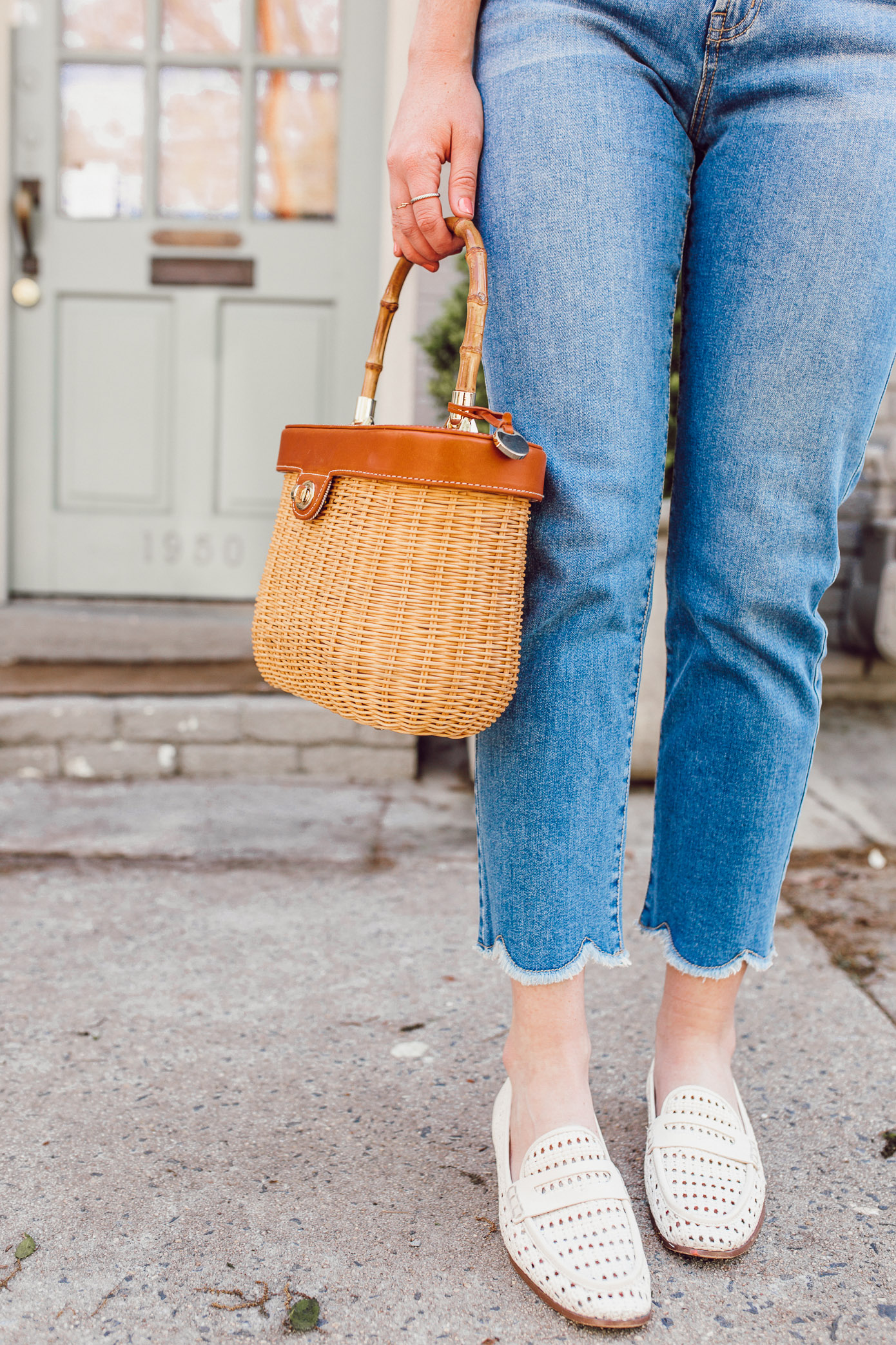 Scalloped Hem Jeans | Jeans for Spring 2019 | Louella Reese