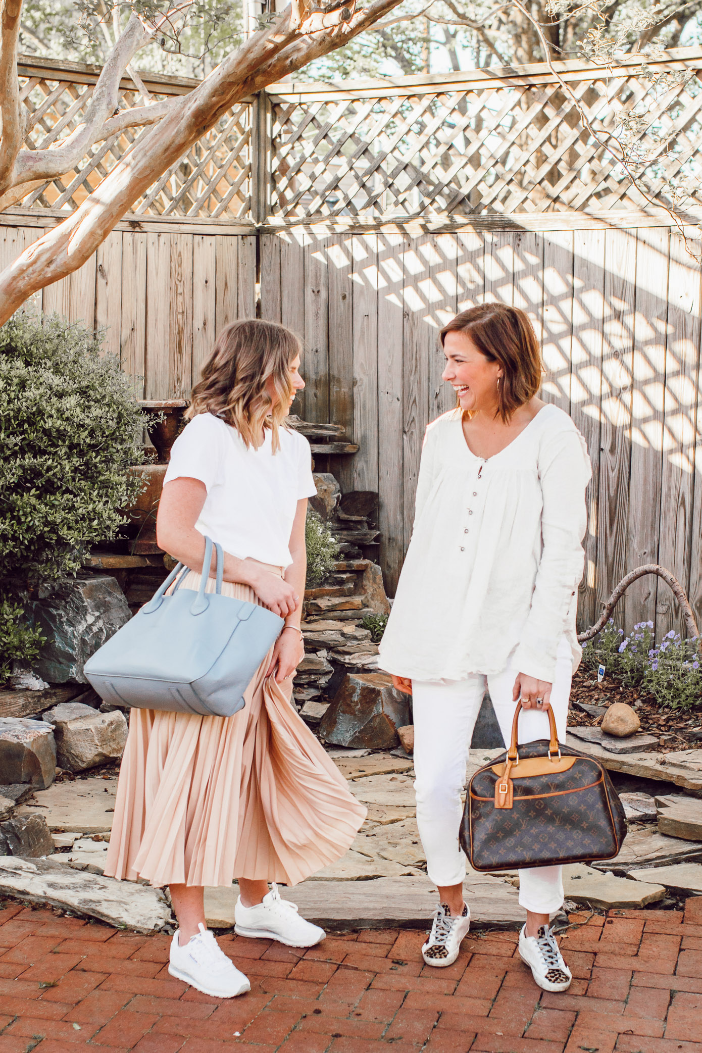 Tips for styling neutrals for spring | Ft. Everlane, Chicwish, Free People, Gap, Golden Goose, Reebok | Louella Reese