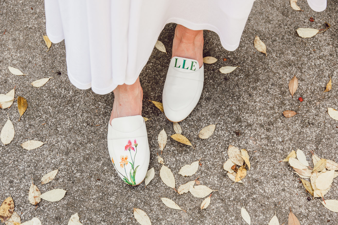 Hand-painted Mules for Summer, Floral Mules for Summer | Louella Reese
