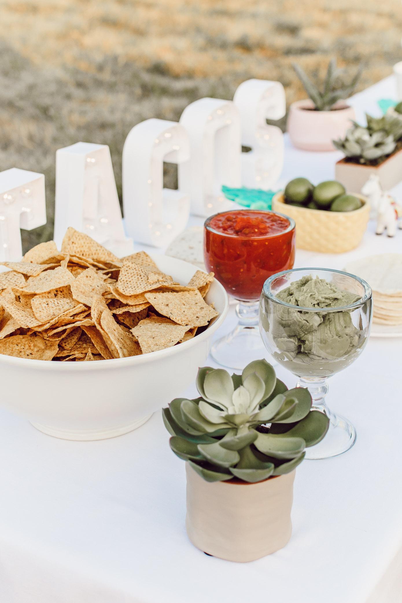 Backyard Summer Fiesta Menu | Taco Bar | Louella Reese