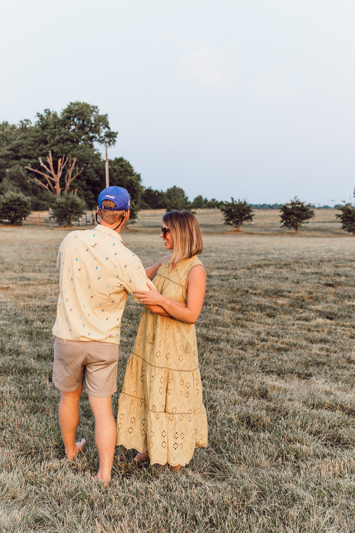 Dancing in a Field | Couples Photos | Louella Reese