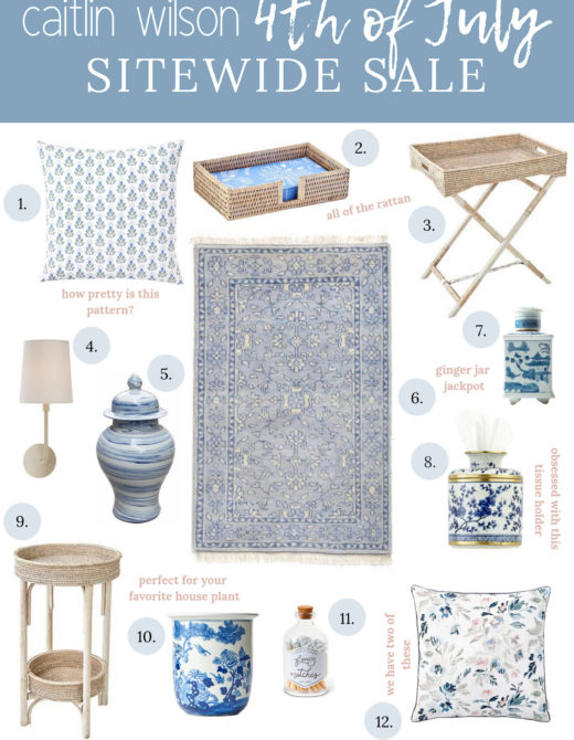 Caitlin Wilson Summer Sale | Blue and White Decor | Louella Reese