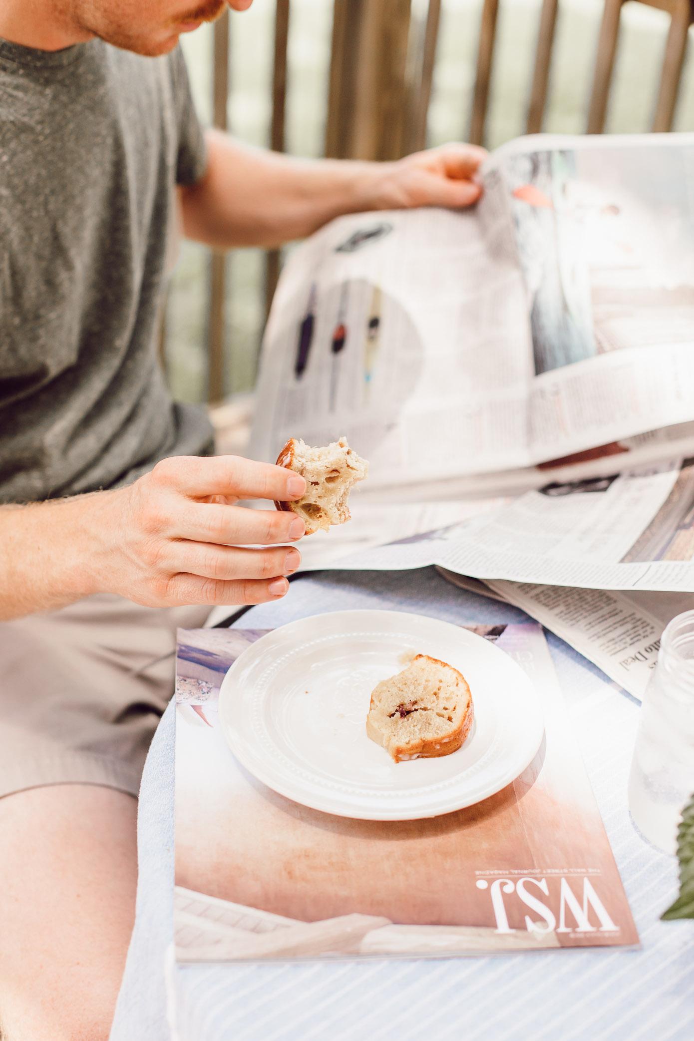 Healthy Peach Bundt Cake Made with Greek Yogurt | FWTFL Recipes | Louella Reese