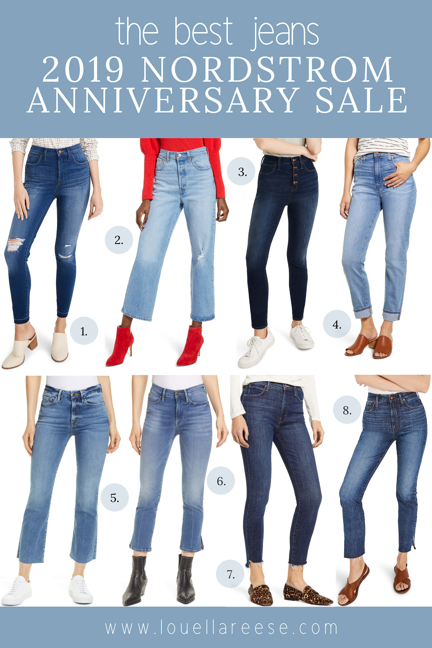 2019 Nordstrom Anniversary Sale Best Jeans | The BEST denim from the 2019 Nordstrom Anniversary Sale | Louella Reese