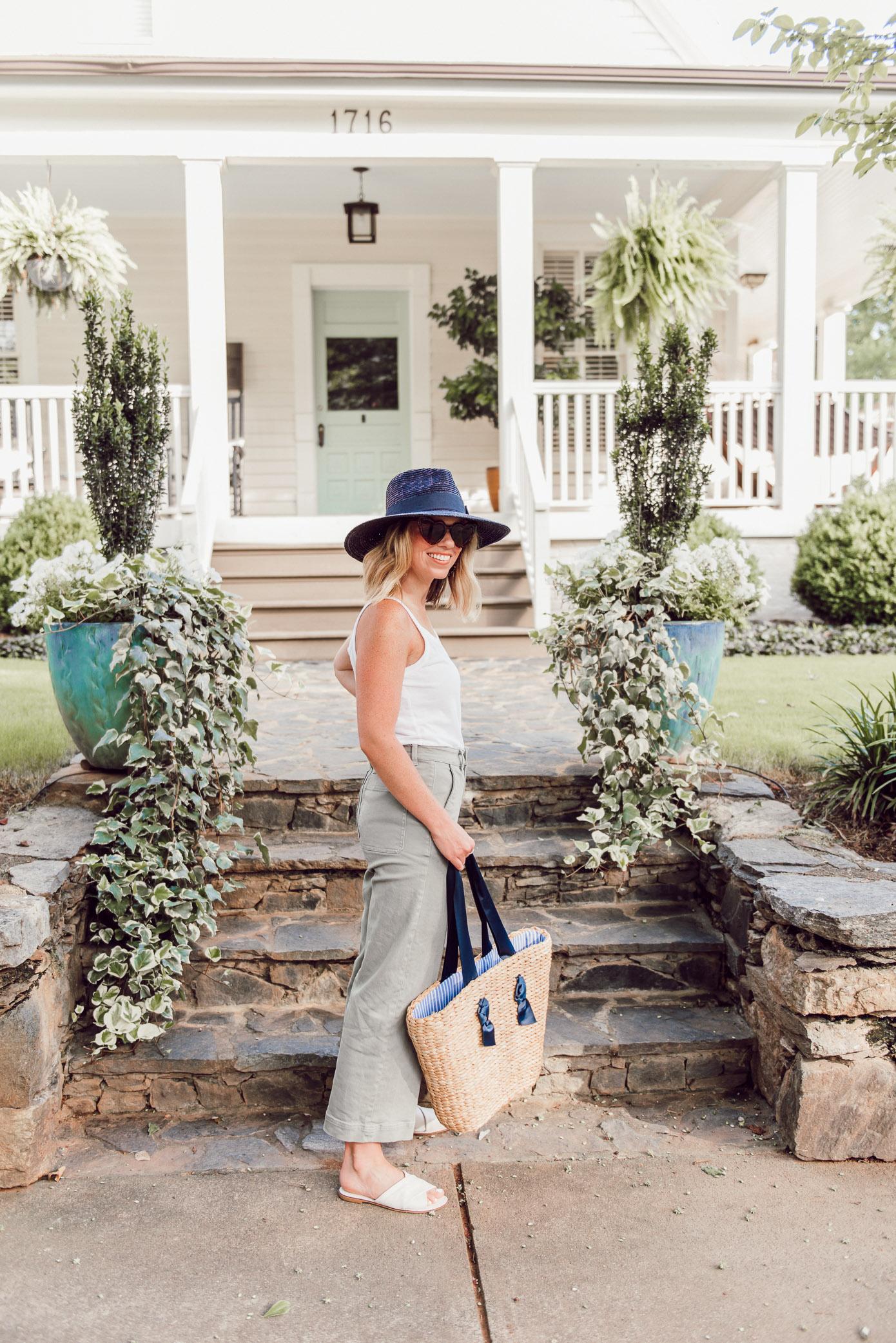 Large Straw Shopper Tote | Pamela Munson Dupe | Louella Reese