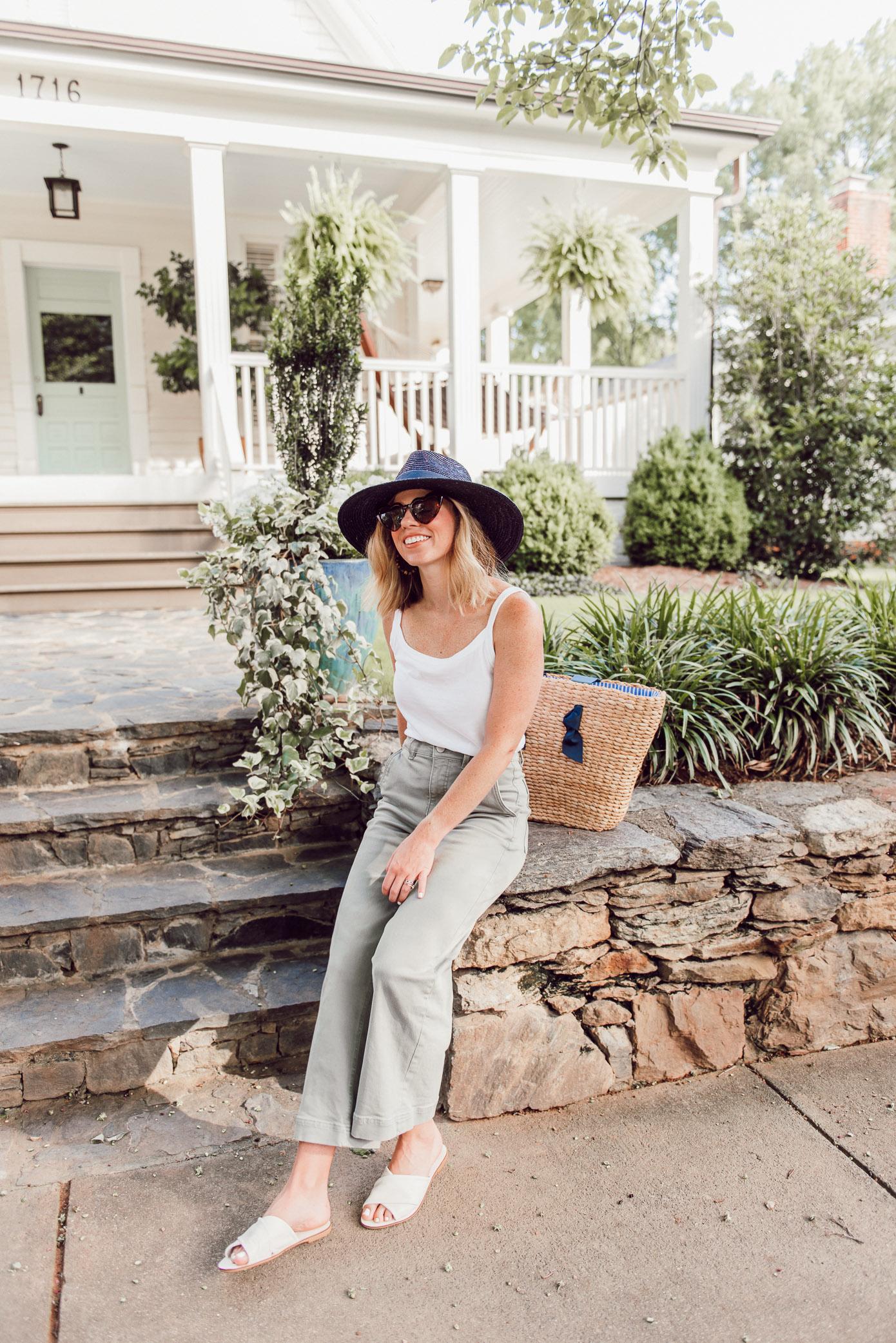 Affordable Summer Basics | Cotton Cami, Wide Leg Crop Pants | Ft. Everlane, Joules, Brixton | Louella Reese