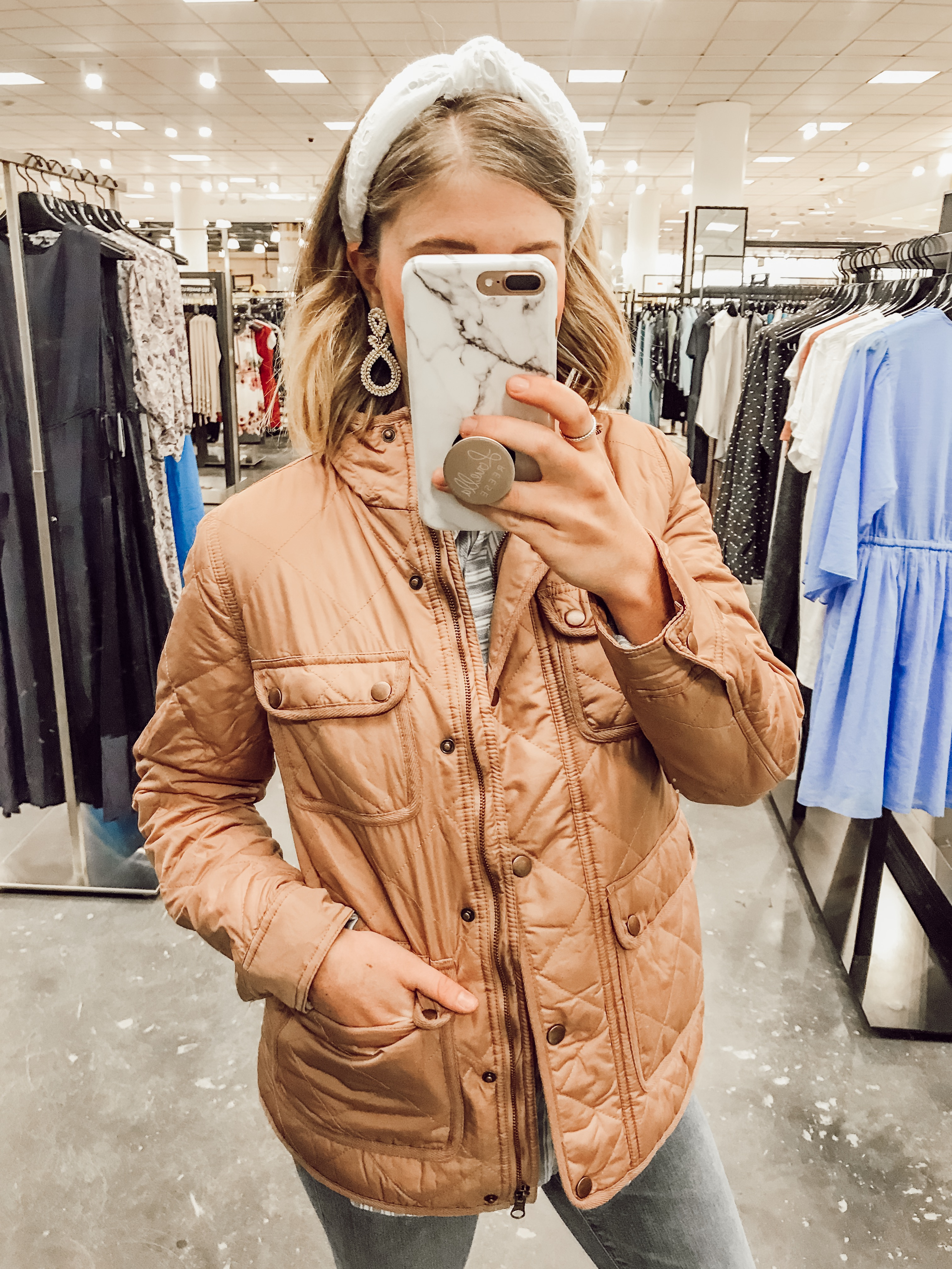 Thread & Supply Fleece Lined Quilted Utility Jacket | | 2019 Nordstrom Anniversary Fitting Room Session featured on Louella Reese Life & Style Blog