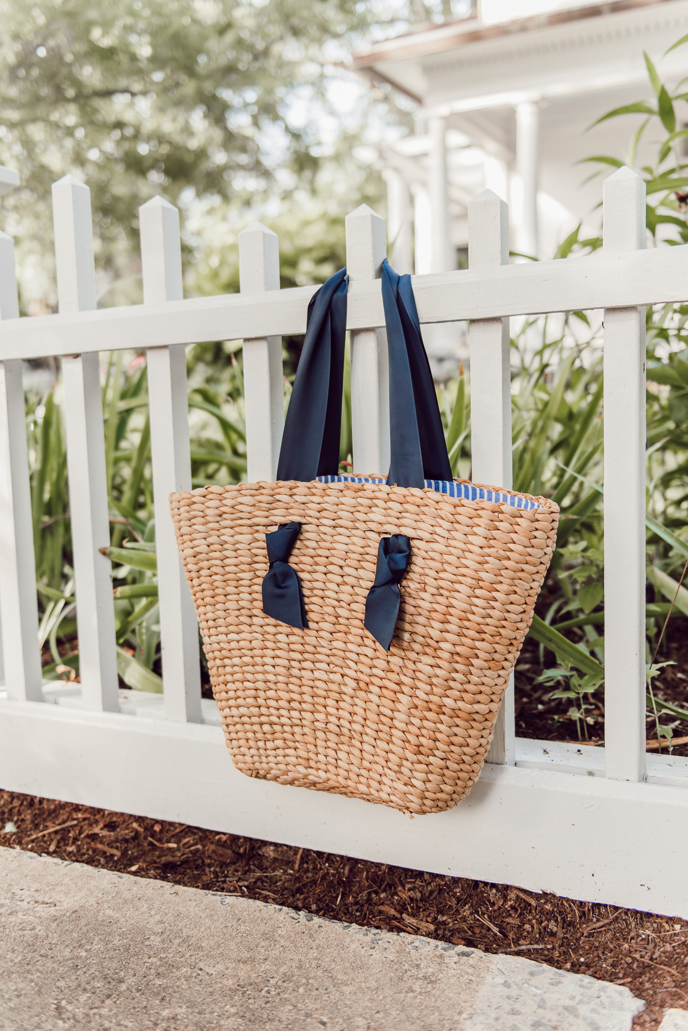 The Prettiest Straw Tote Bag under $50 | Louella Reese