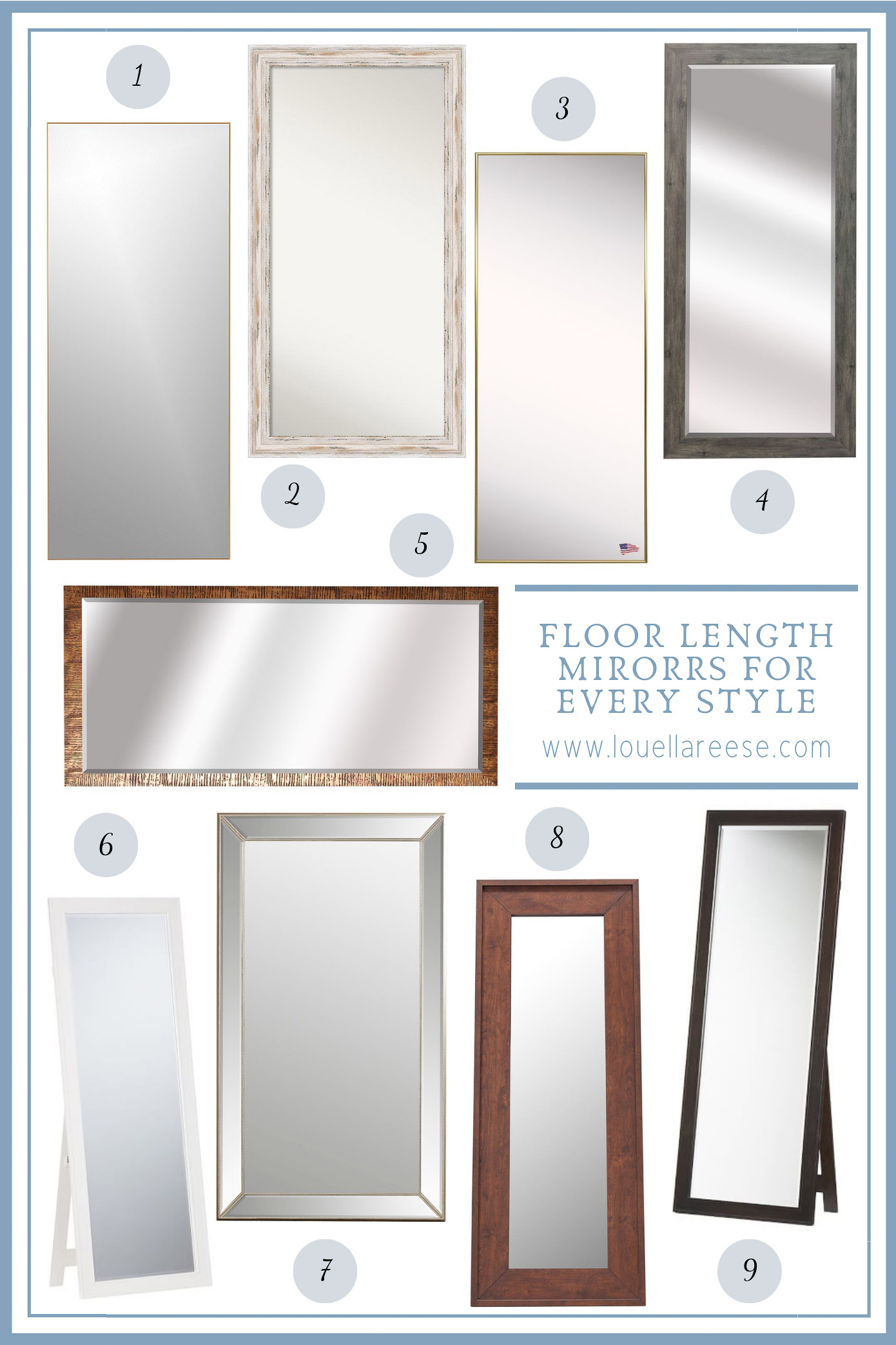 Floor Length Mirrors for Every Style | Louella Reese