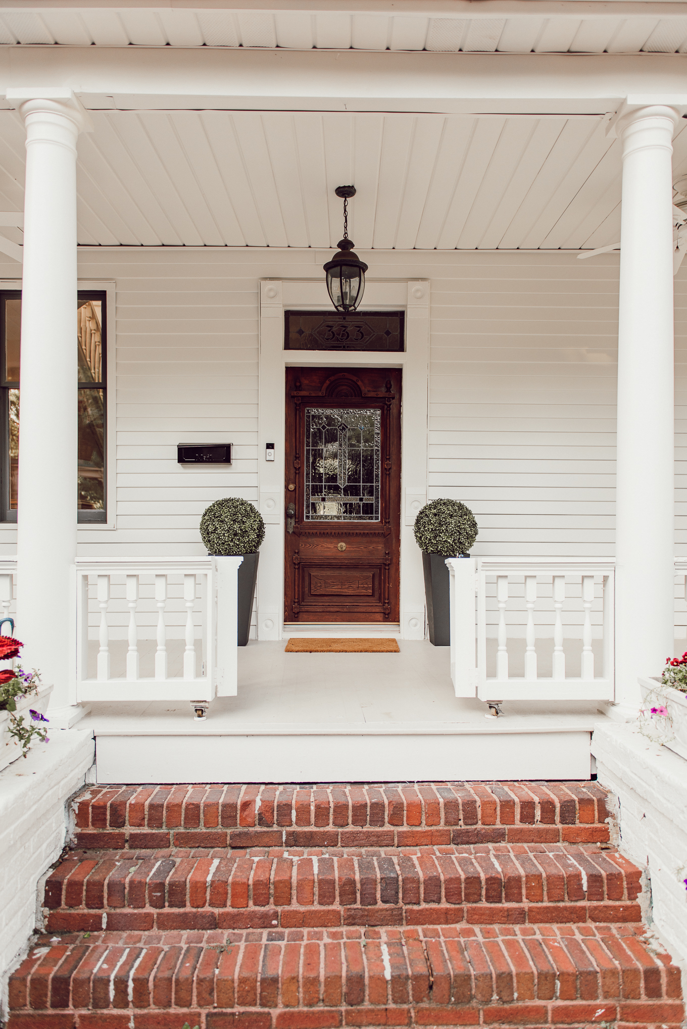 Charming White House | Southern White House with Big Porch | Louella Reese