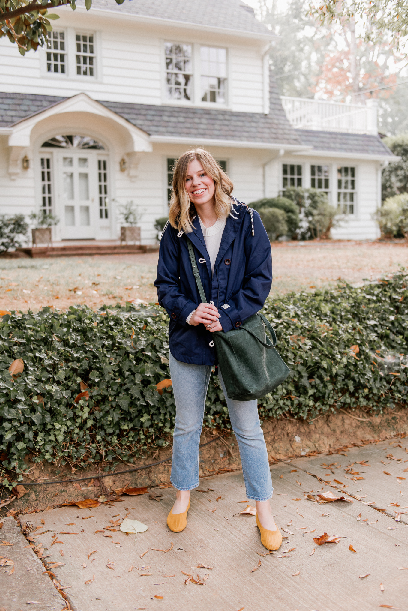 Casual Fall Outfit Idea | Crop Flare Jeans | Louella Reese