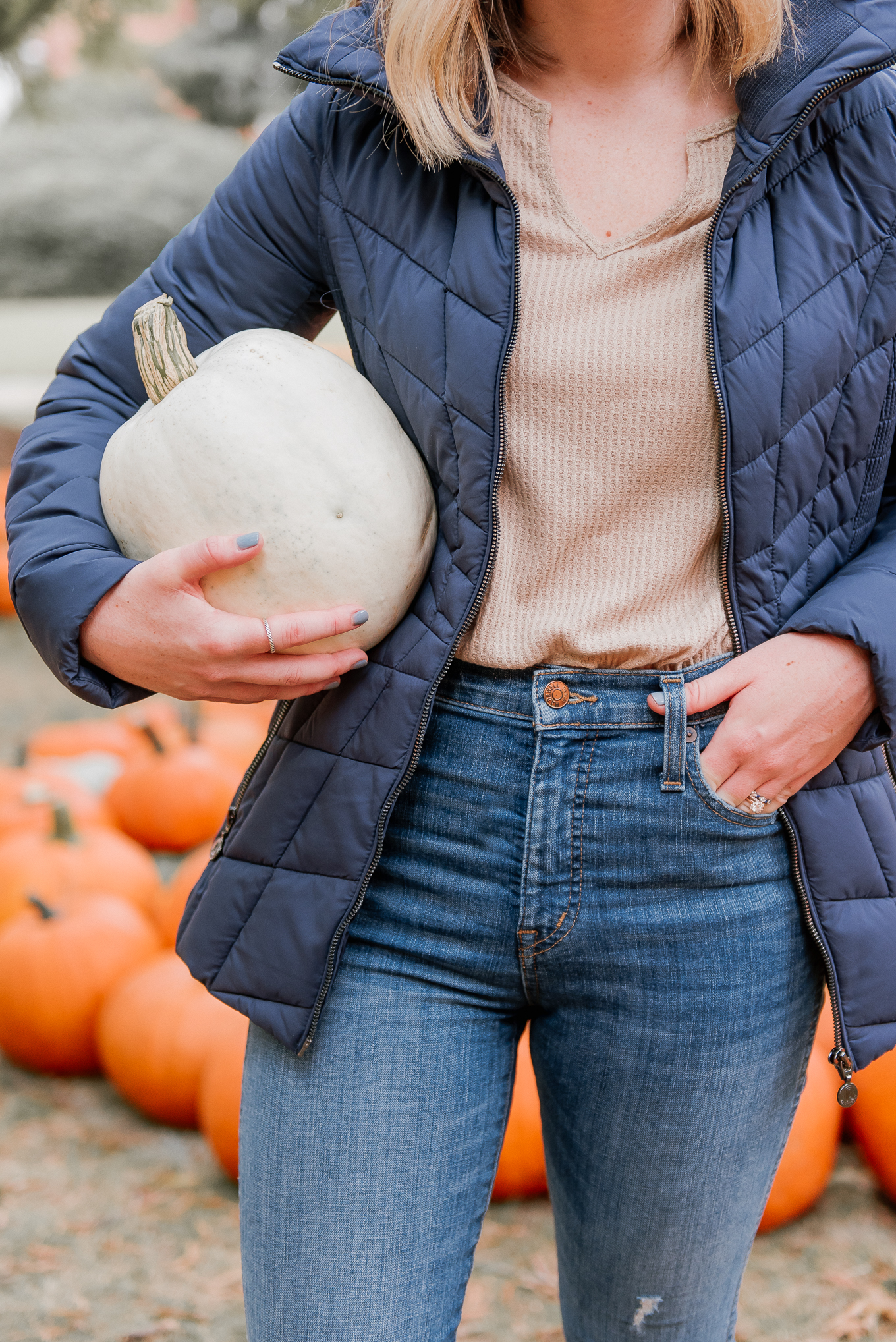 Packable Coat | Navy Puffer Jacket | Louella Reese