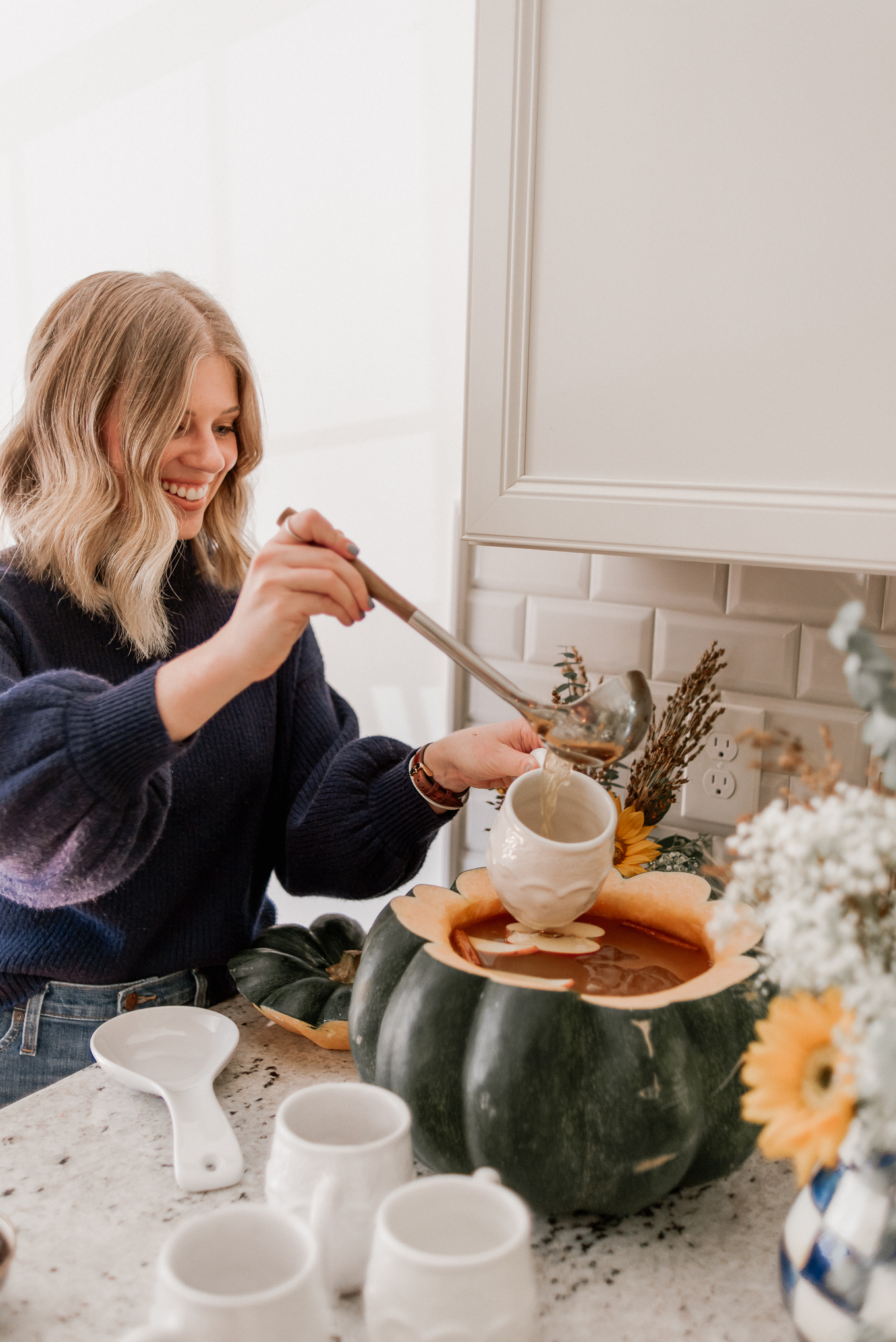 Pumpkin Punch Bowl | Fall Entertaining | Louella Reese
