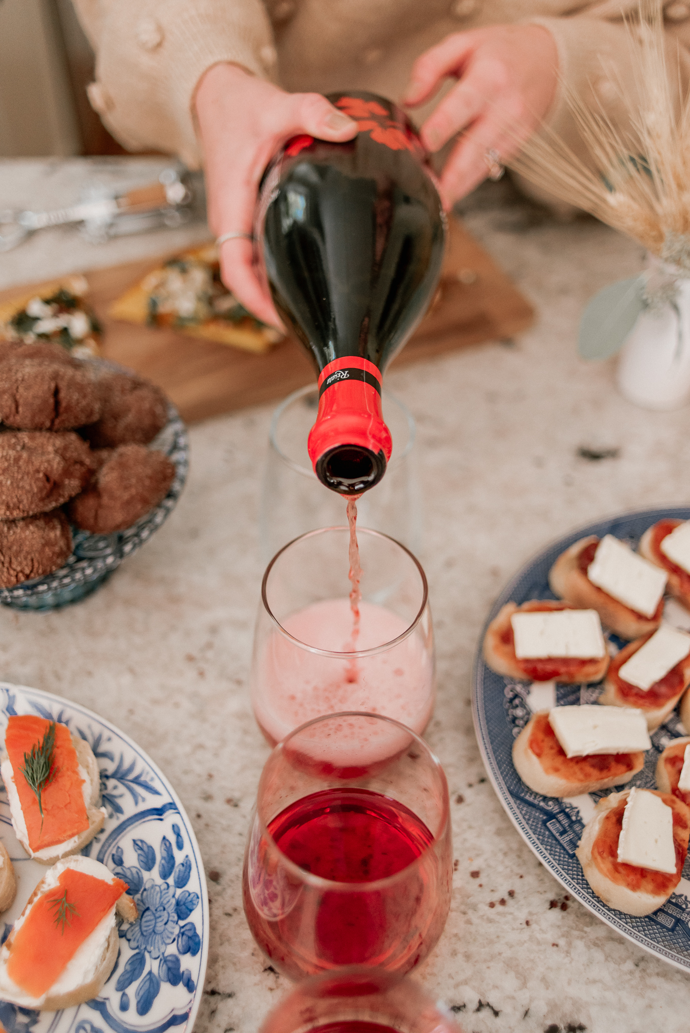 Holiday Wine and Food Pairings with Risata Wines | Holiday Hosting | Louella Reese