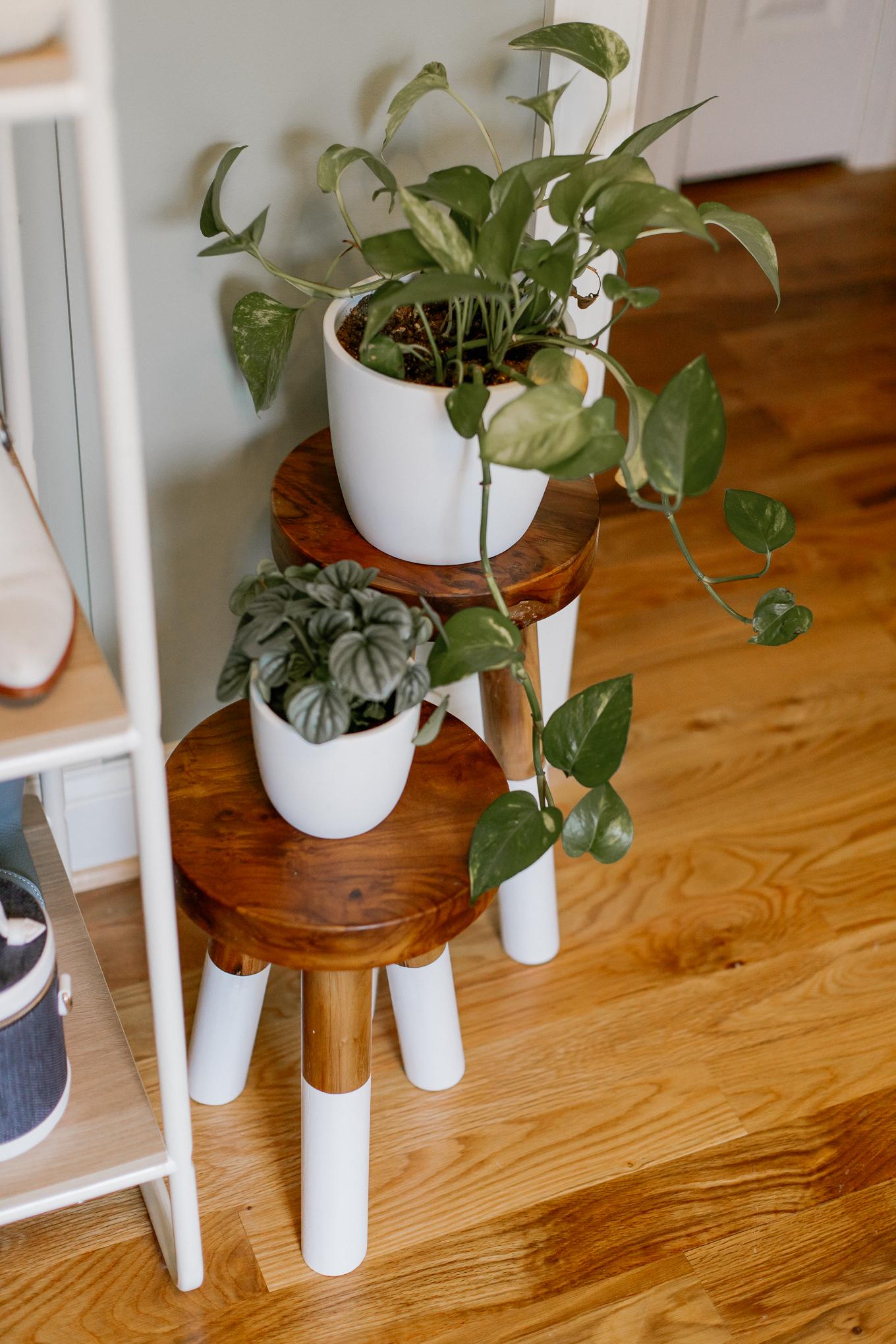 Wood Stools, Dip-Dyed Stools | Louella Reese