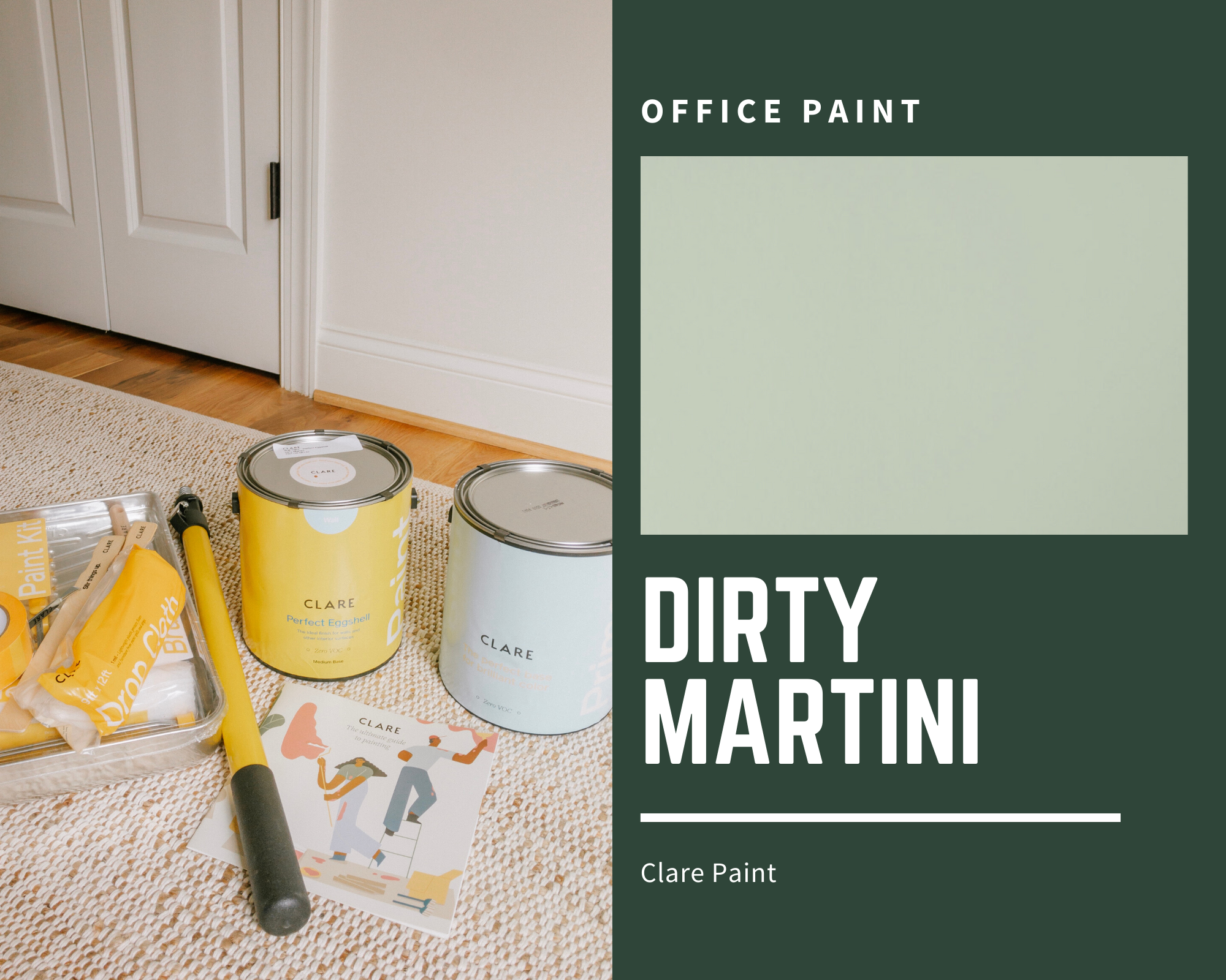 Green Paint for Office | Office Paint Color | Louella Reese