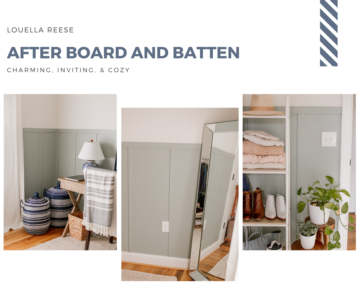 After Board and Batten Office Photos | Louella Reese