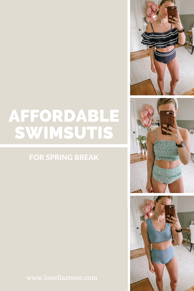 Affordable Swimsuits for Spring Break   Swimsuit Try-on Haul   Louella Reese