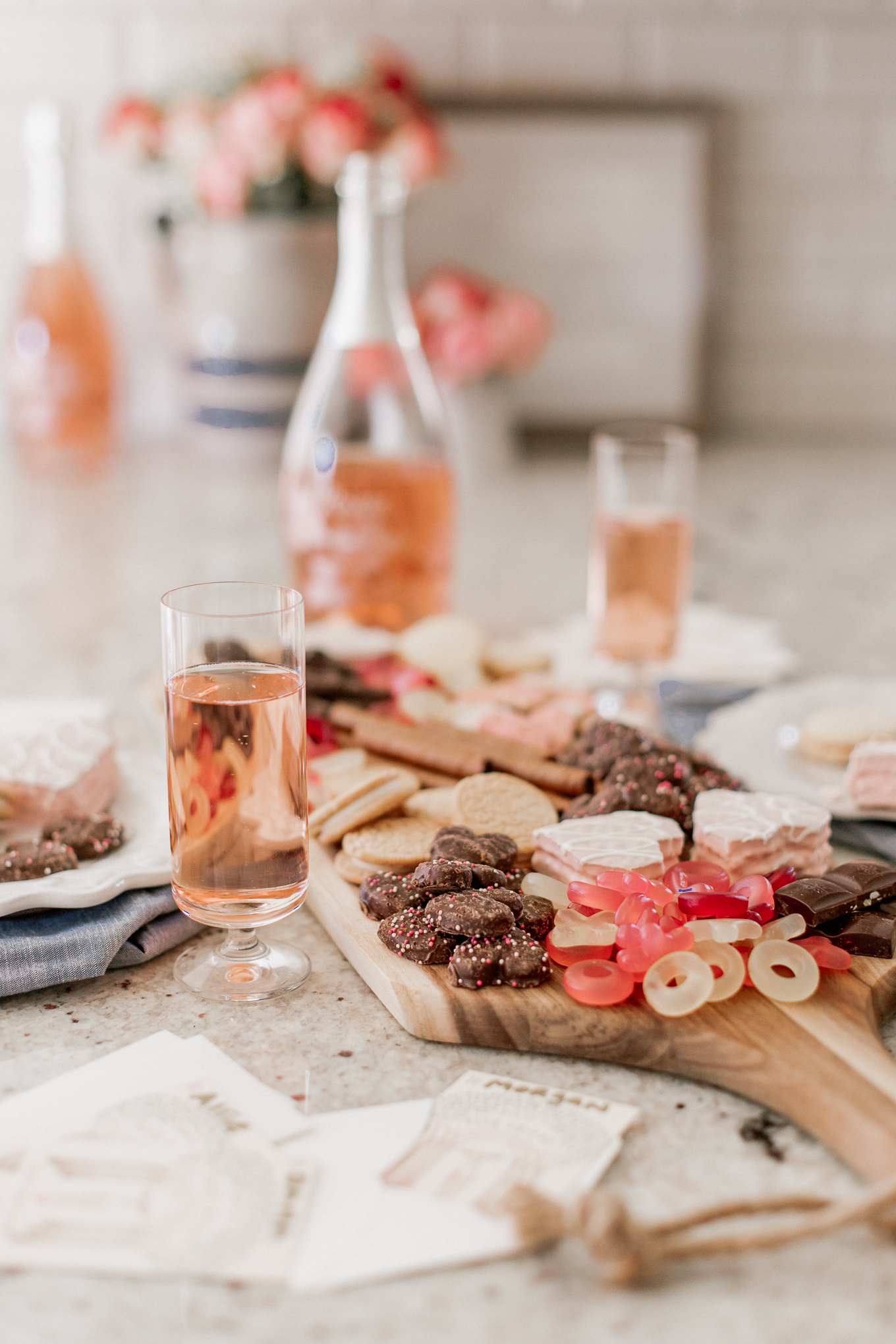 How to Celebrate Galentine's Day with your girls | Galentine's Day Cards, Valentine's Day Dessert Charcuterie Board | Louella Reese