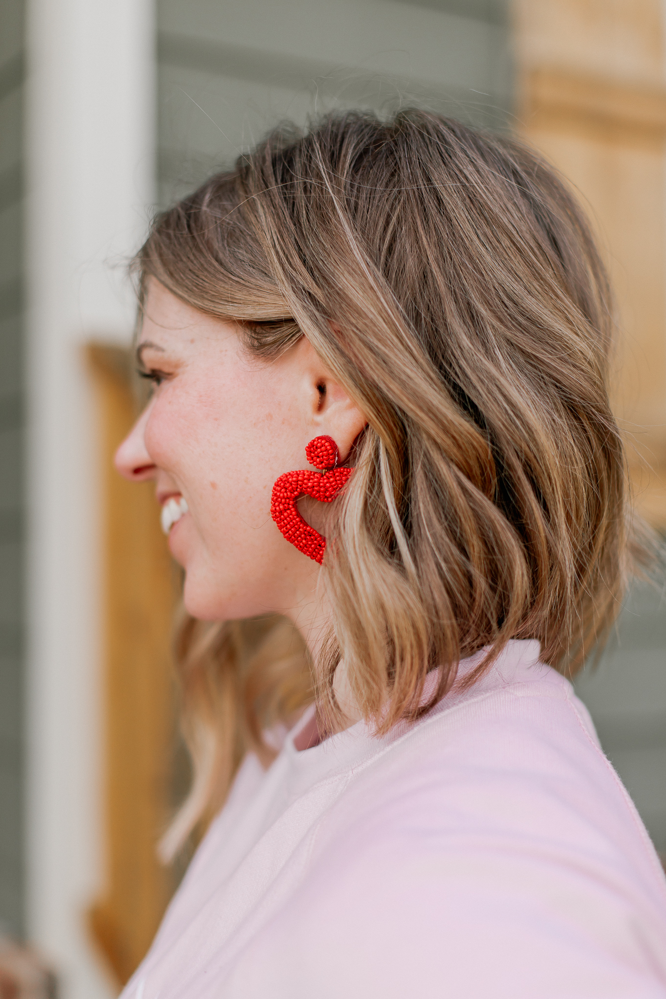 Galentine's Day Gift Ideas for your girl friends | Valentine's Day Earrings | Beaded Heart Earrings | Louella Reese