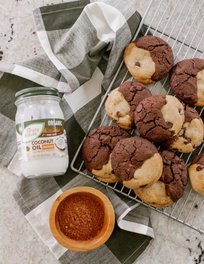 The BEST BROOKIE Recipe - Half Brownie, Half Chocolate Chip Cookie Cookies | Louella Reese