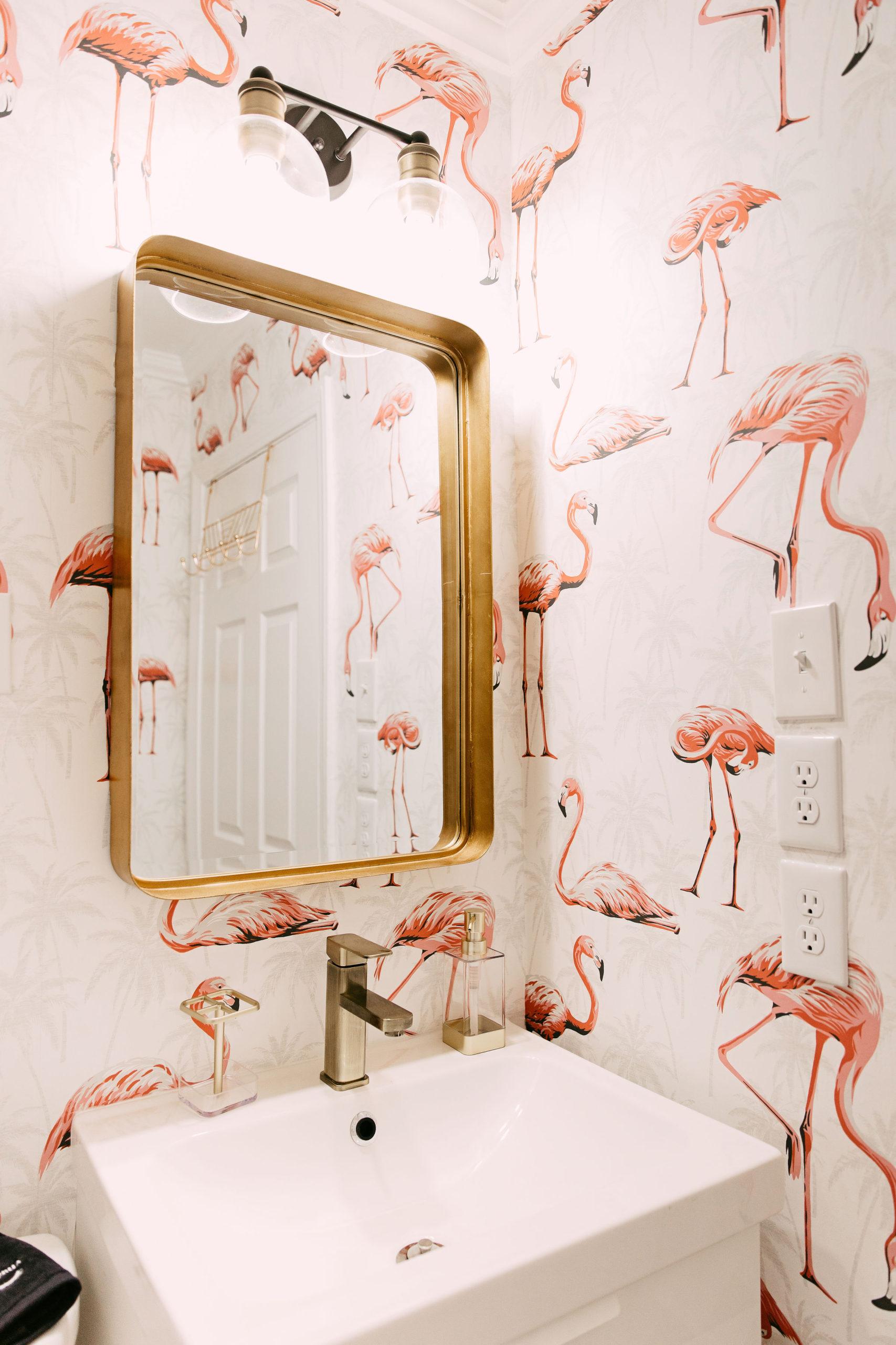Instagram-worthy AirBNB properties to visit | Pink Flamingo Wallpaper | Louella Reese